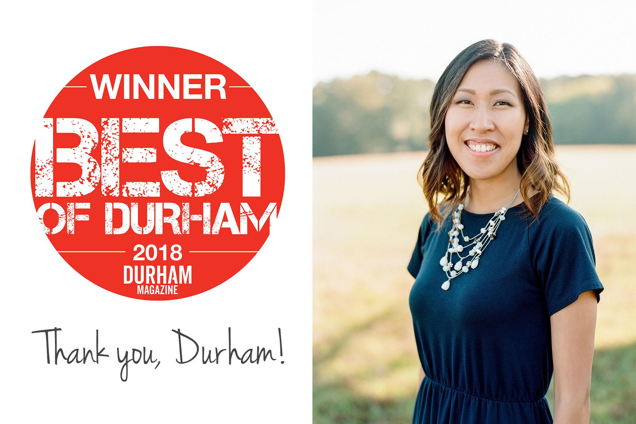Best Photographer in Durham | Durham Magazine, The Best of Durham 2018 | G. Lin Photography