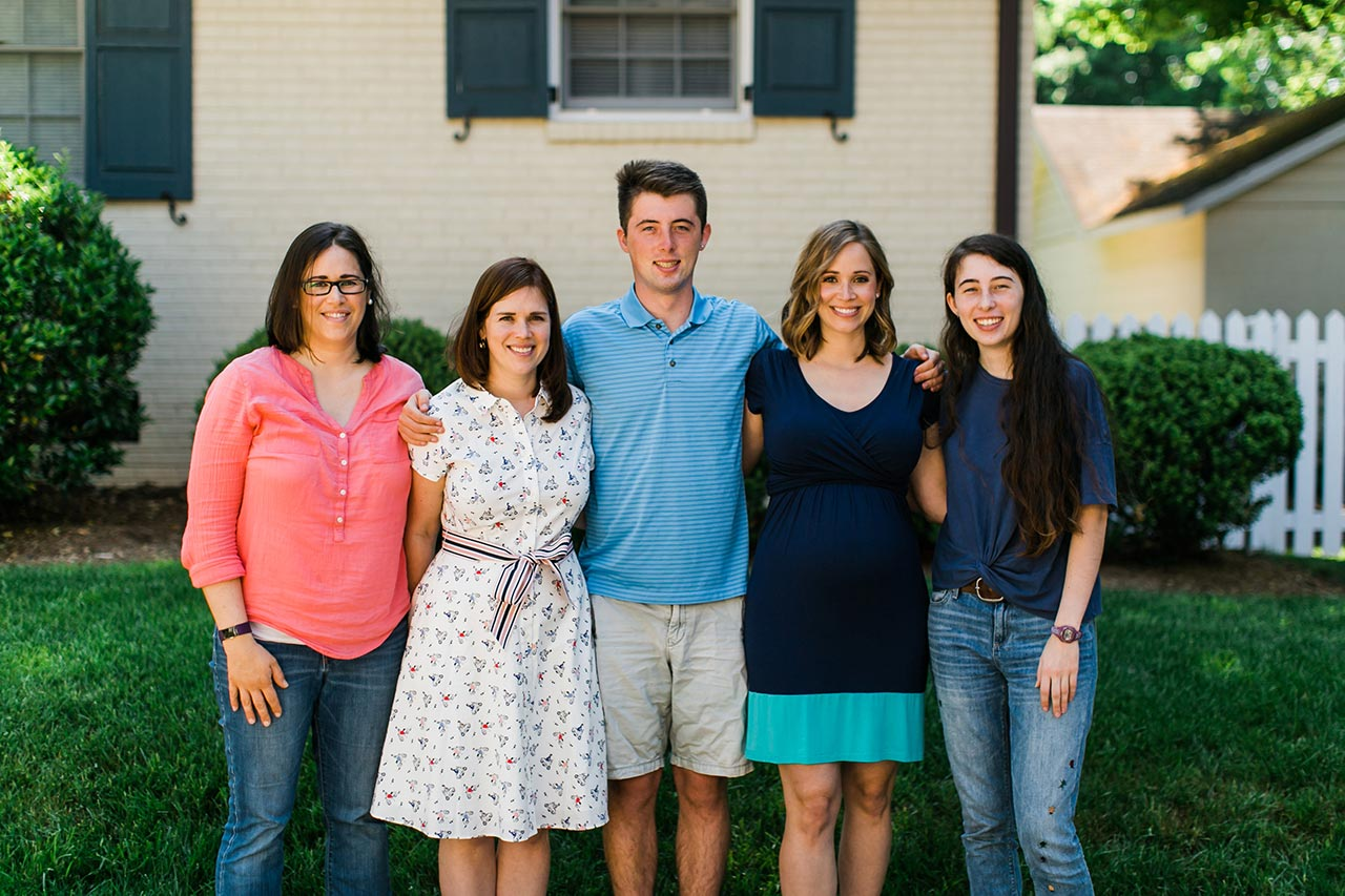 Group Family Photo | Graduation Portraits for UNC Student | By G. Lin Photography | Durham Photographer