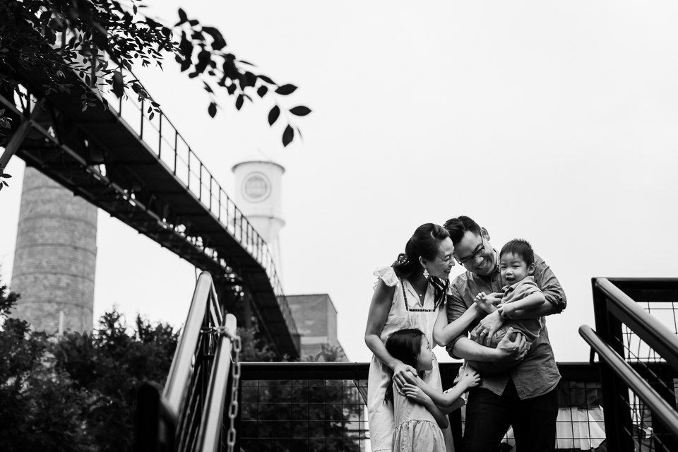 Black and white family portrait | Family Photographer in Durham, NC | G. Lin Photography