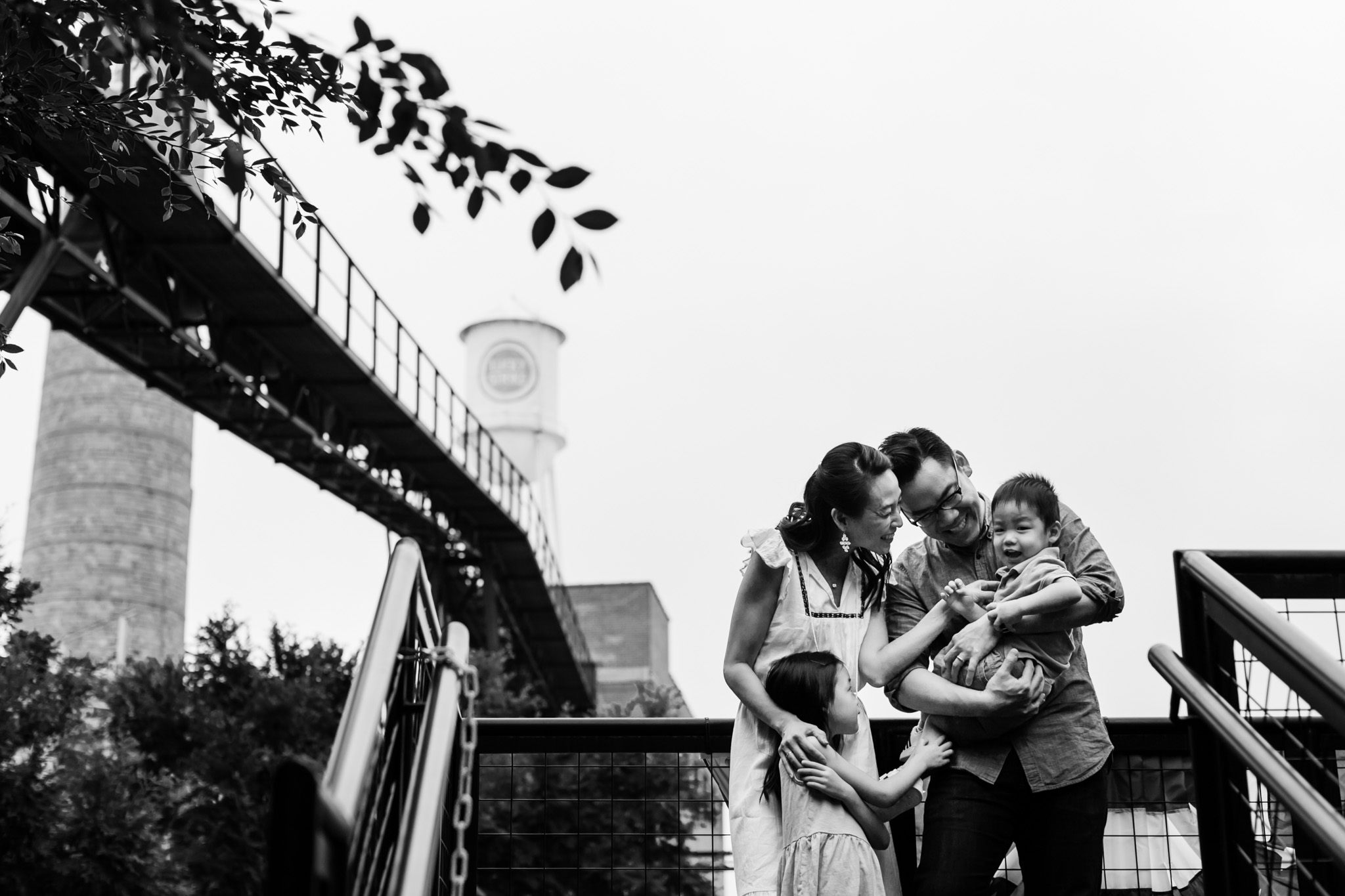 Durham Family Photographer | By G. Lin Photography | Family at American Tobacco Campus