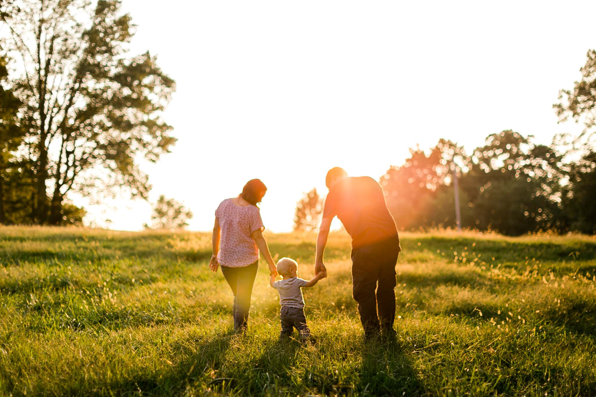 Golden hour family photo in Rougemont | By G. Lin Photography | Durham Family Photographer