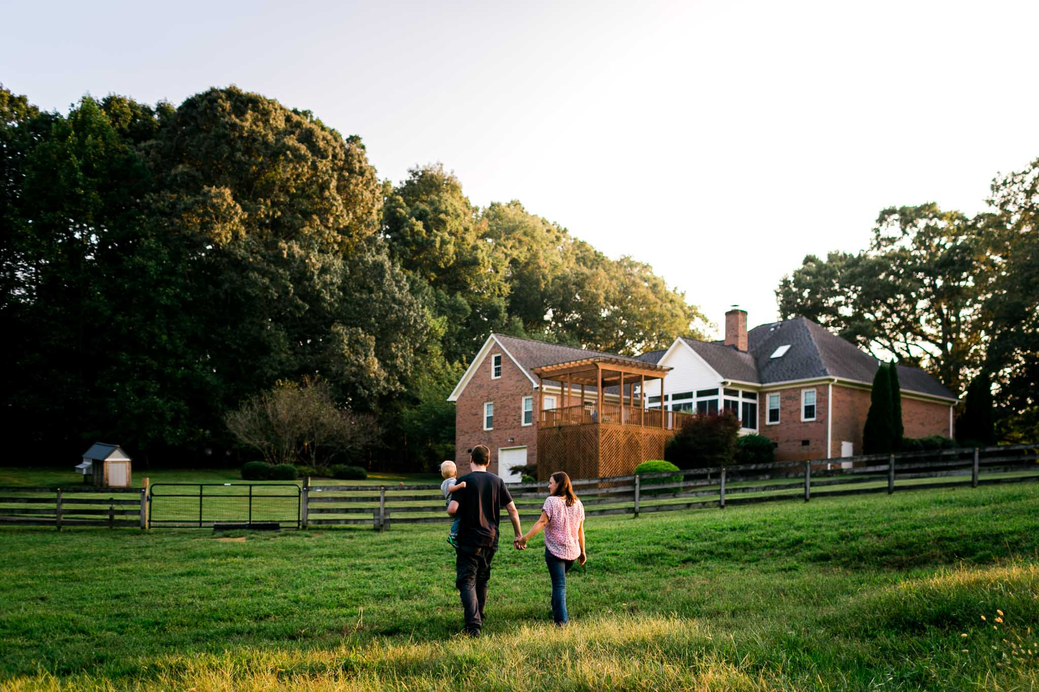 Candid lifestyle family photo | By G. Lin Photography | Durham Family Photographer