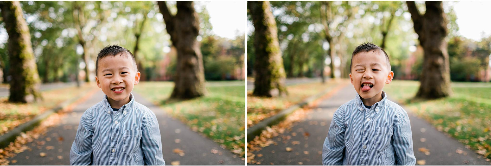 Boy making funny faces | Seattle Family Photographer | By G. Lin Photography