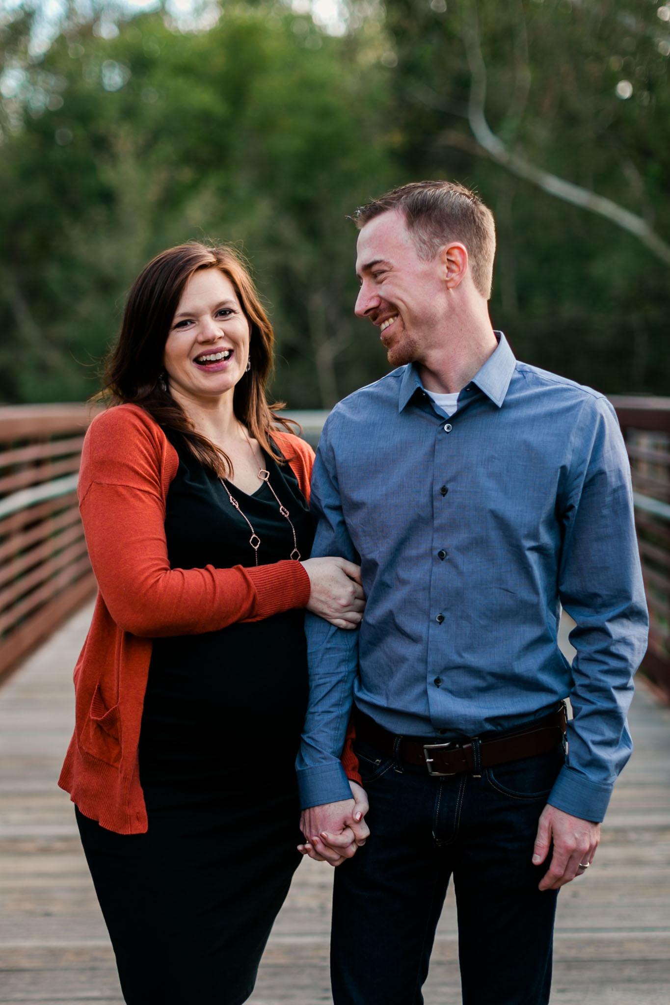 Portrait of couple laughing | Hillsborough Family Photographer | By G. Lin Photography