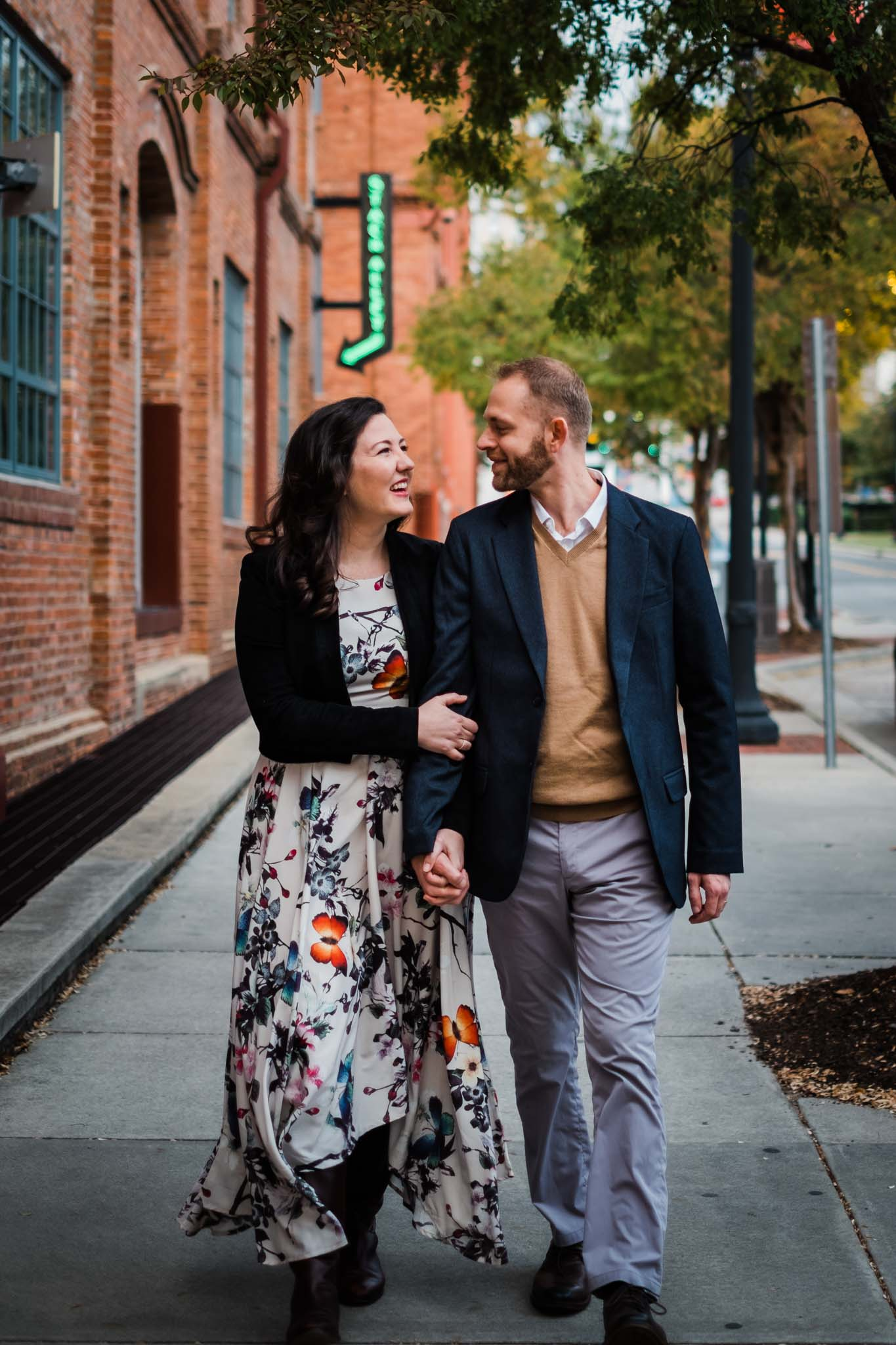 Outdoor couple shoot at American Tobacco Campus | Durham Photographer | By G. Lin Photography