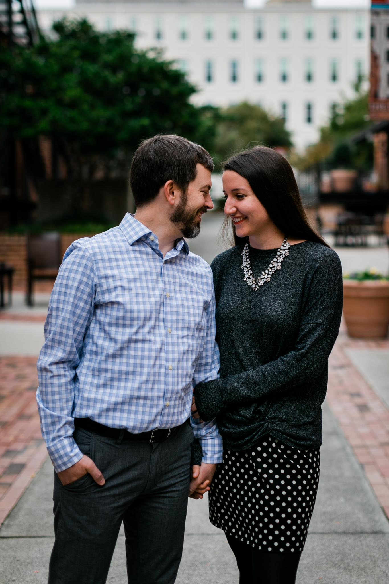 Outdoor Family Photo at American Tobacco Campus | Durham Photographer | By G. Lin Photography