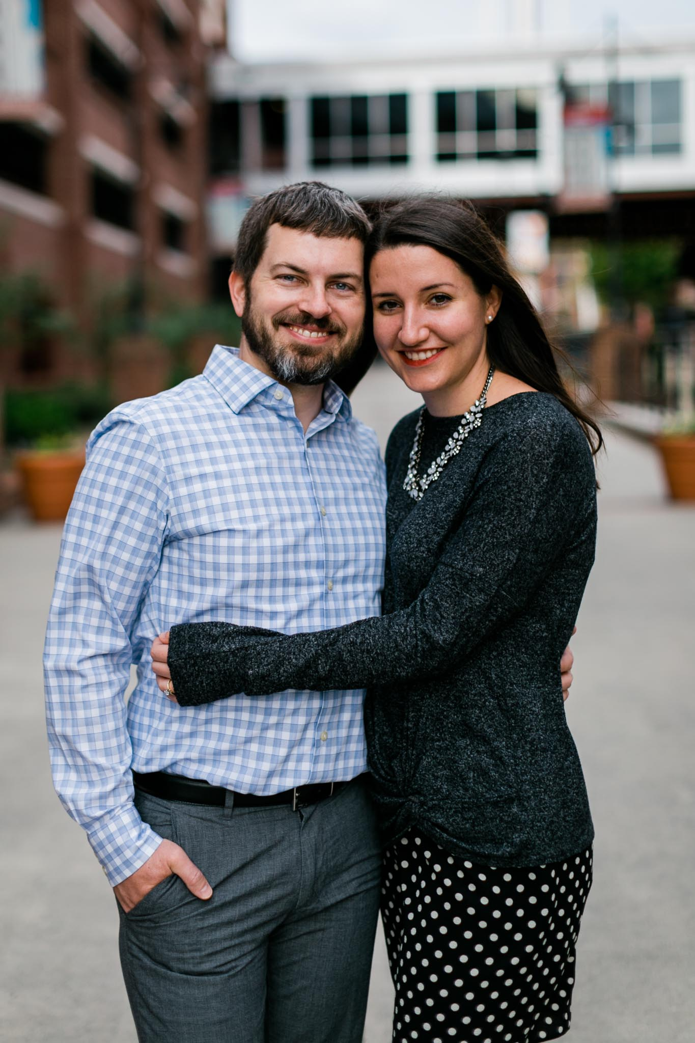 Candid family photo at American Tobacco Campus | Durham Photographer | By G. Lin Photography