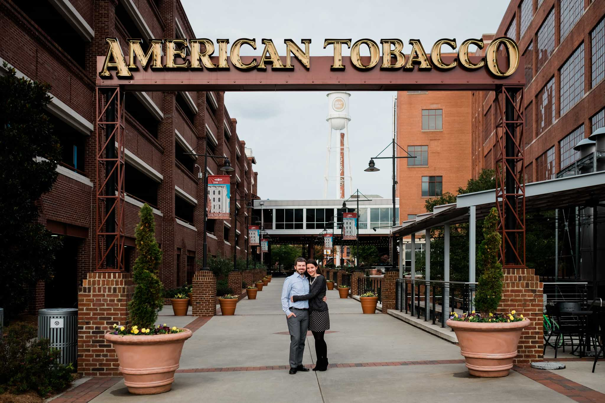 Couple portrait at American Tobacco Campus | Durham Family Photographer | By G. Lin Photography