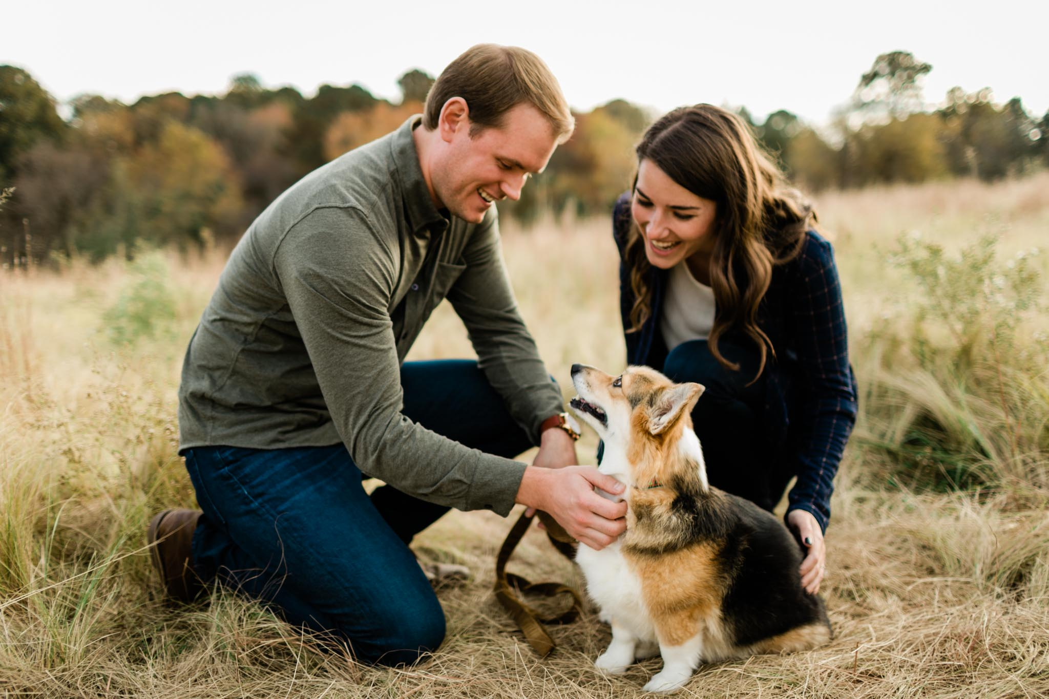 Photo of corgi outside in fields of NCMA | Raleigh Pet Photography | By G. Lin Photography