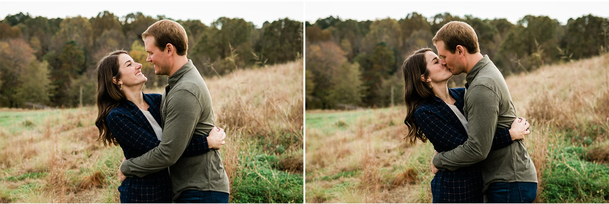 Outdoor couple portrait at NC Museum of Art | Raleigh Photographer | By G. Lin Photography
