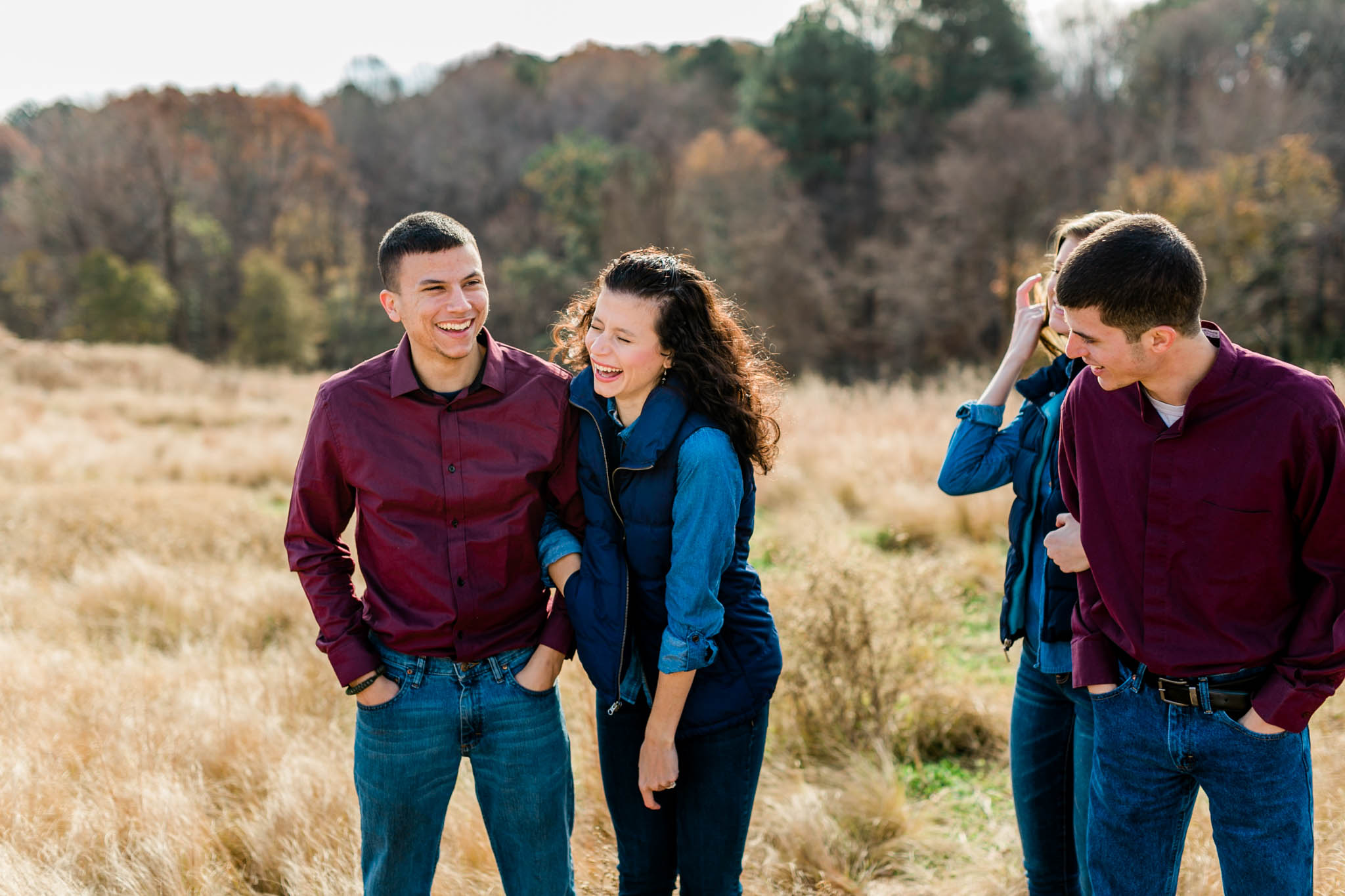 Silly family photo at NCMA | Raleigh Family Photographer