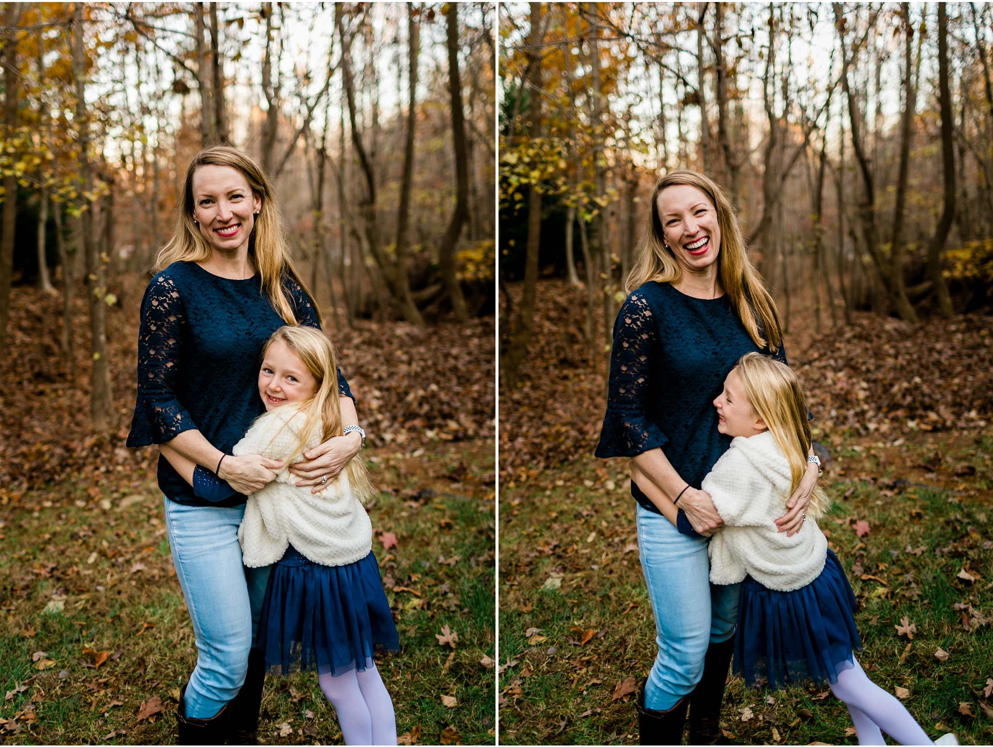Mother and daughter portraits outside | By G. Lin Photography | Durham Family Photographer