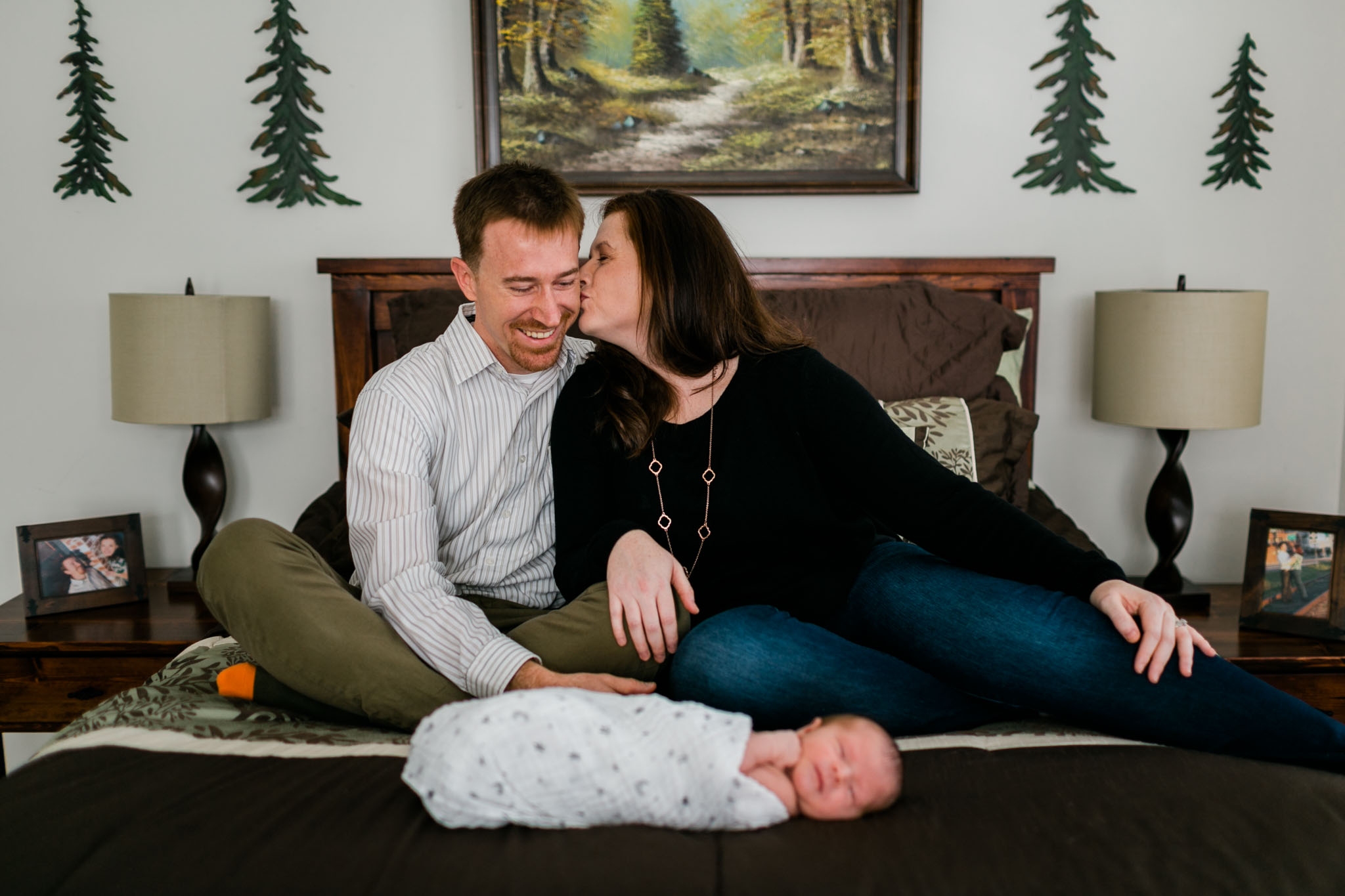 Lifestyle newborn session at home | Durham Newborn Photographer | By G. Lin Photography