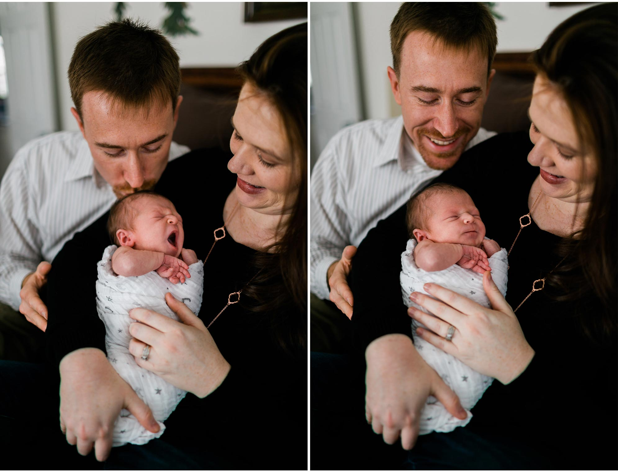 Baby yawning during newborn session | Durham Newborn Photographer | By G. Lin Photography