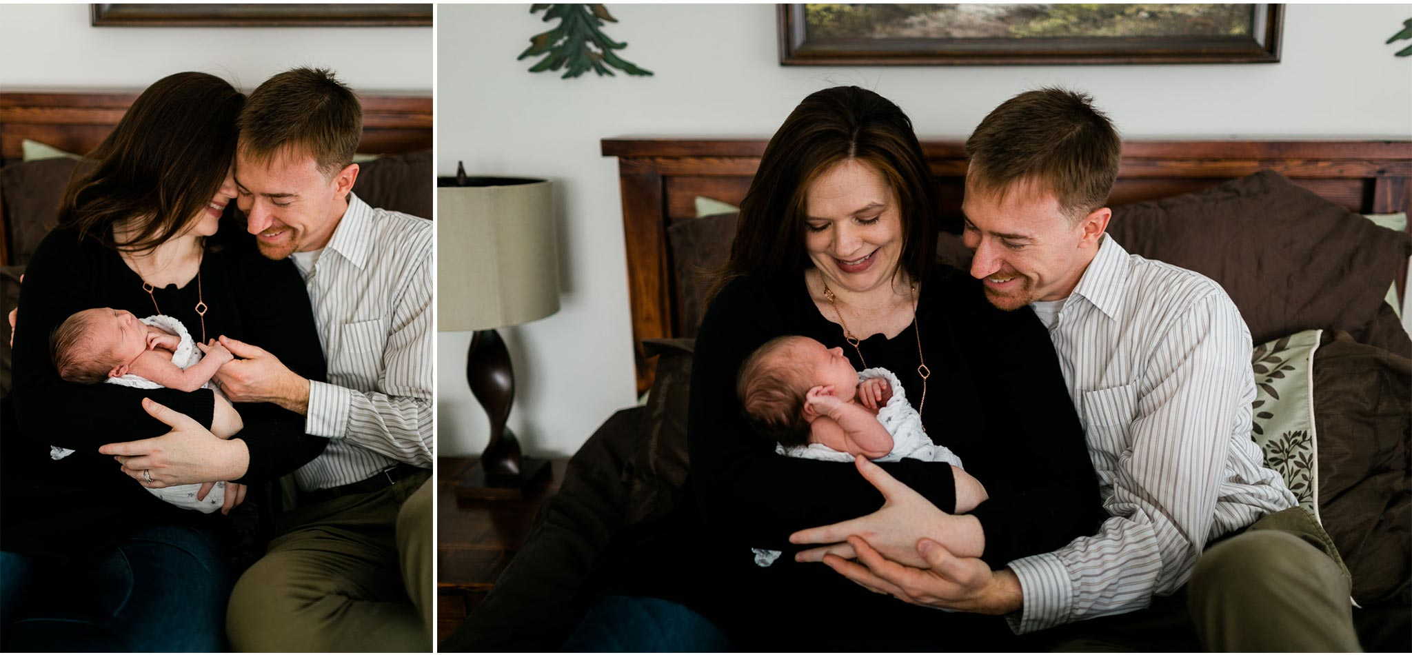 Candid lifestyle newborn session at home | Raleigh Newborn Photographer | By G. Lin Photography