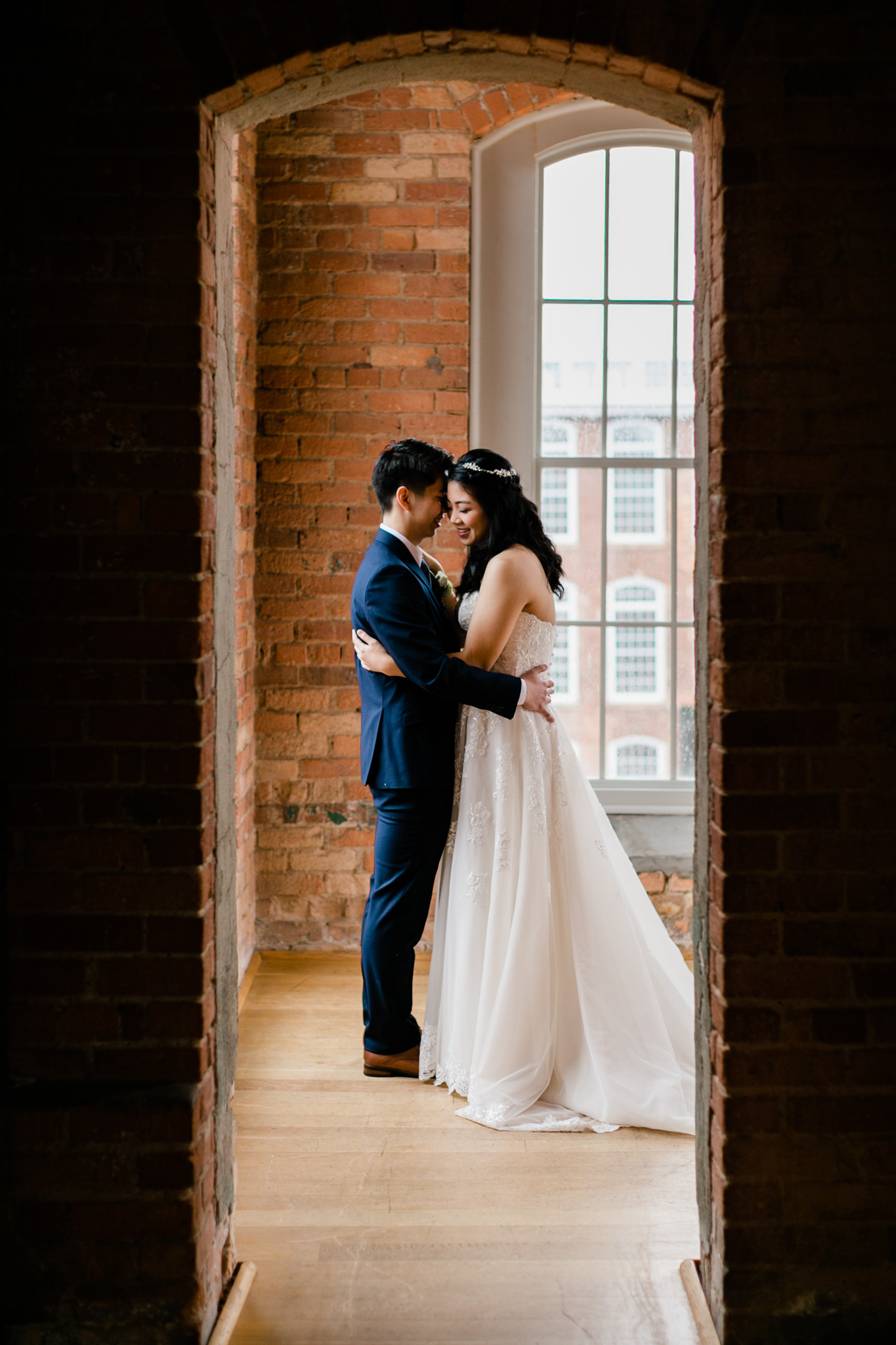 Beautiful portrait of bride and groom | Durham Wedding Photographer | The Cotton Room | By G. Lin Photography