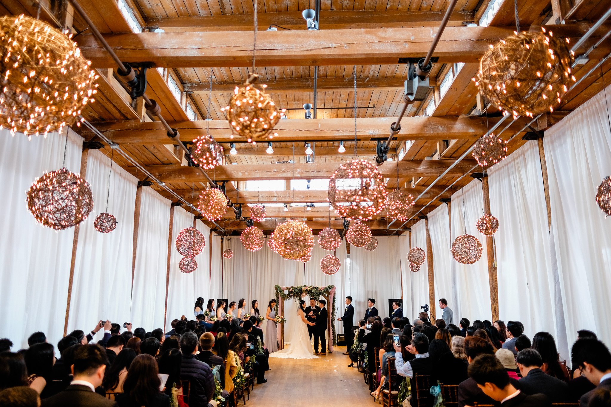 Romantic wedding ceremony at the Cotton Room | Durham Wedding Photographer | By G. Lin Photography
