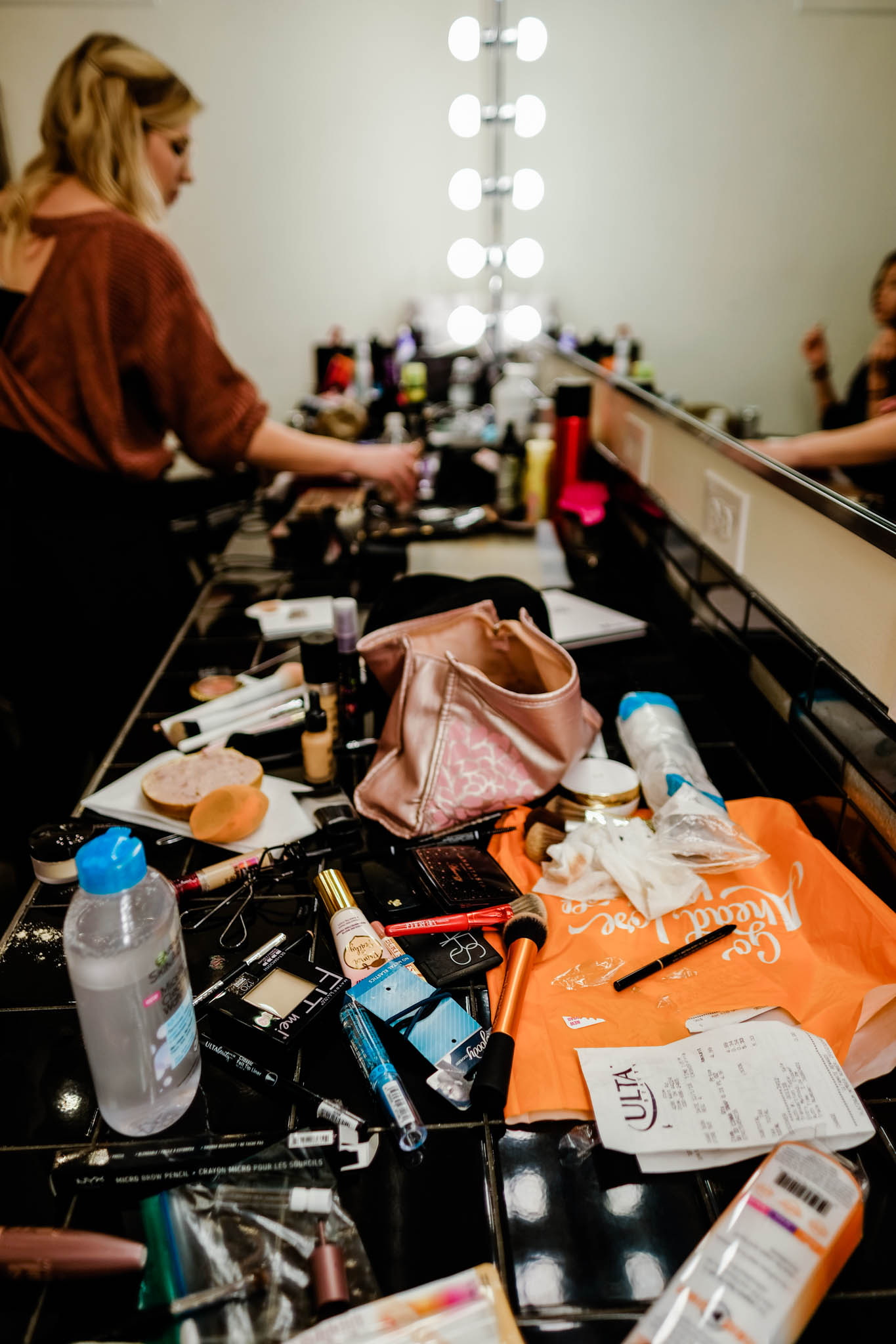 Makeup on counter | Durham Wedding Photography | By G. Lin Photography