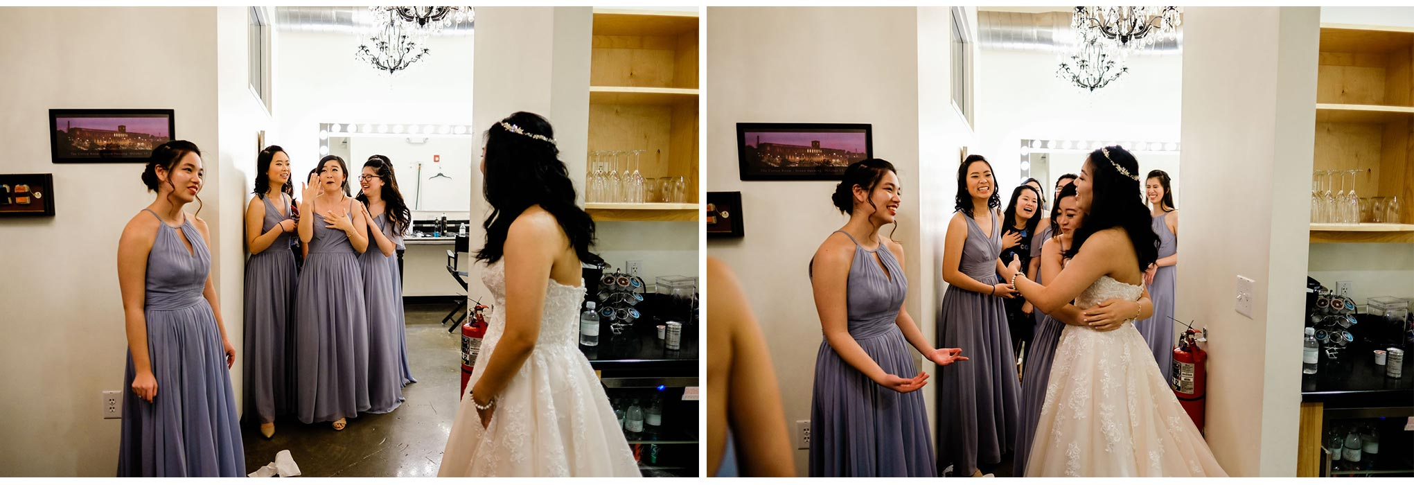 Bridesmaids hugging bride | Durham Wedding Photographer | By G. Lin Photography