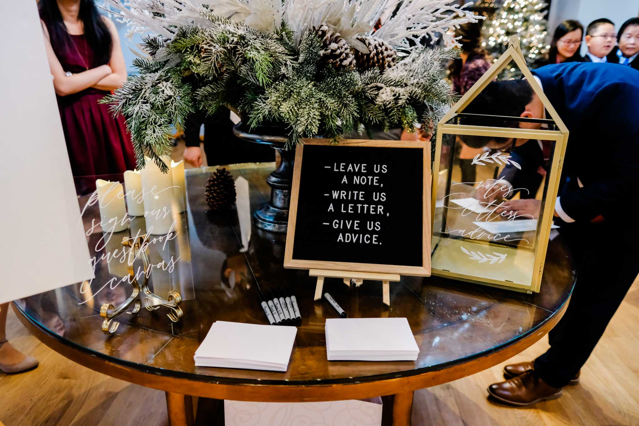 Guest book at wedding at The Cotton Room | Durham Raleigh Wedding Photographer | By G. Lin Photography