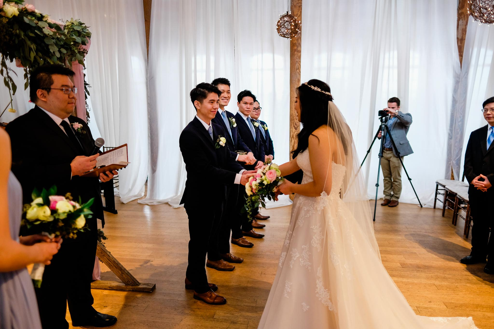 Wedding Ceremony at The Cotton Room | Durham Wedding Photographer | By G. Lin Photography