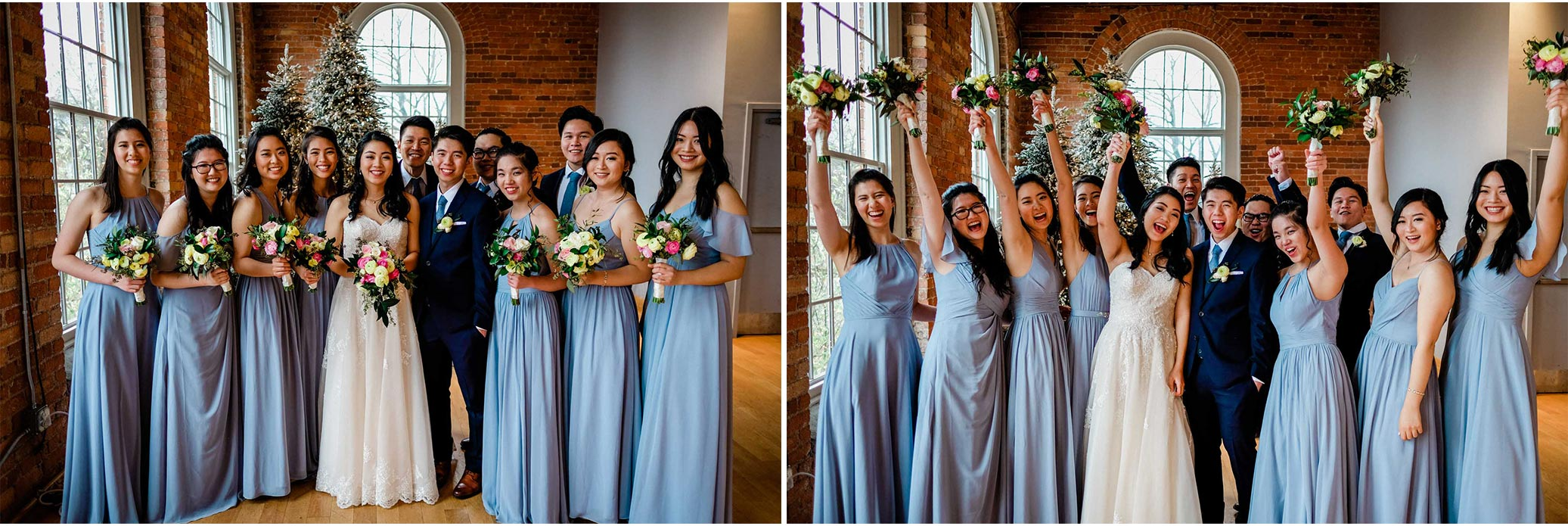 Bridal party at The Cotton Room | Durham Wedding Photographer | By G. Lin Photography
