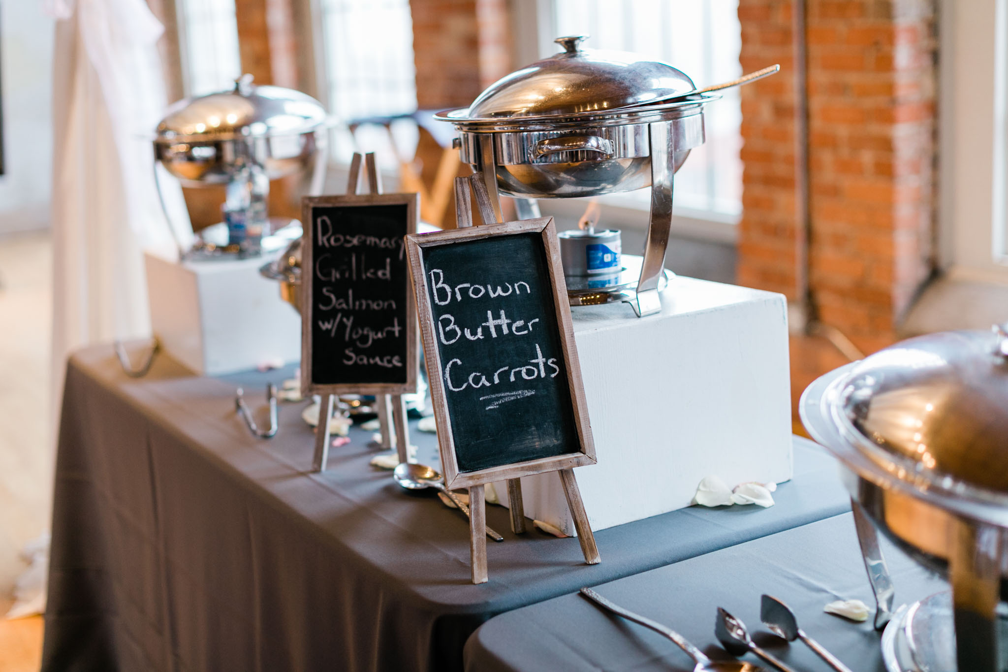 Wedding food and reception at The Cotton Room | Durham Wedding Photographer | By G. Lin Photography