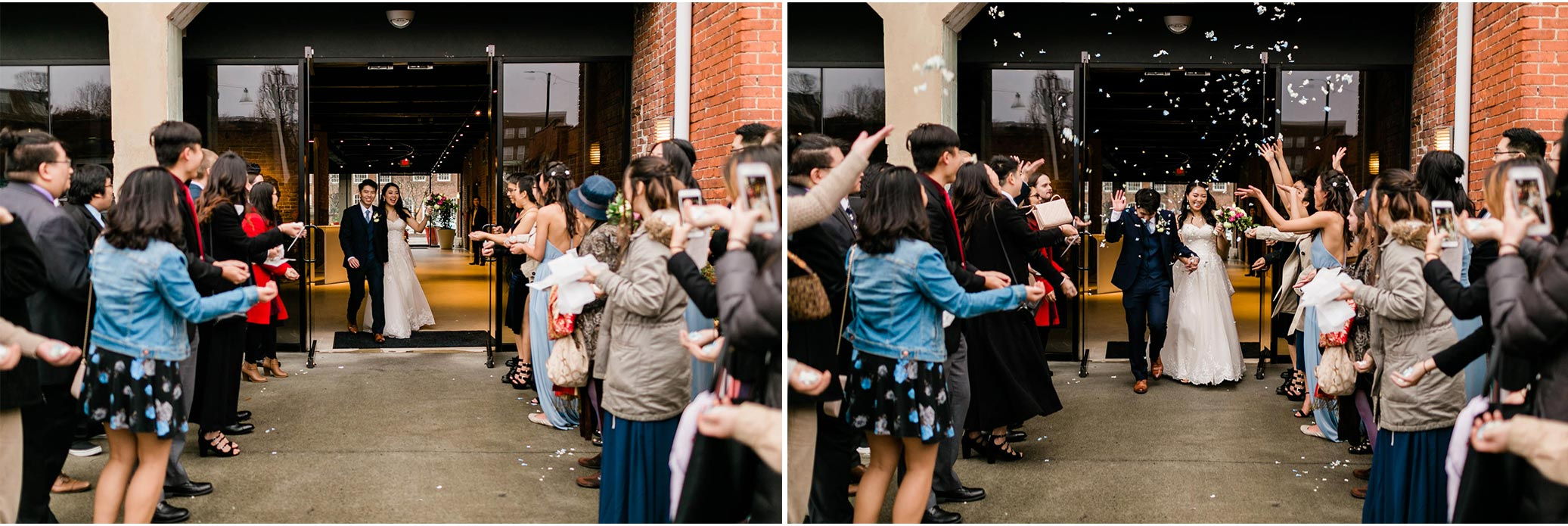 Wedding Sendoff at The Cotton Room | Durham NC Photographer | By G. Lin Photography
