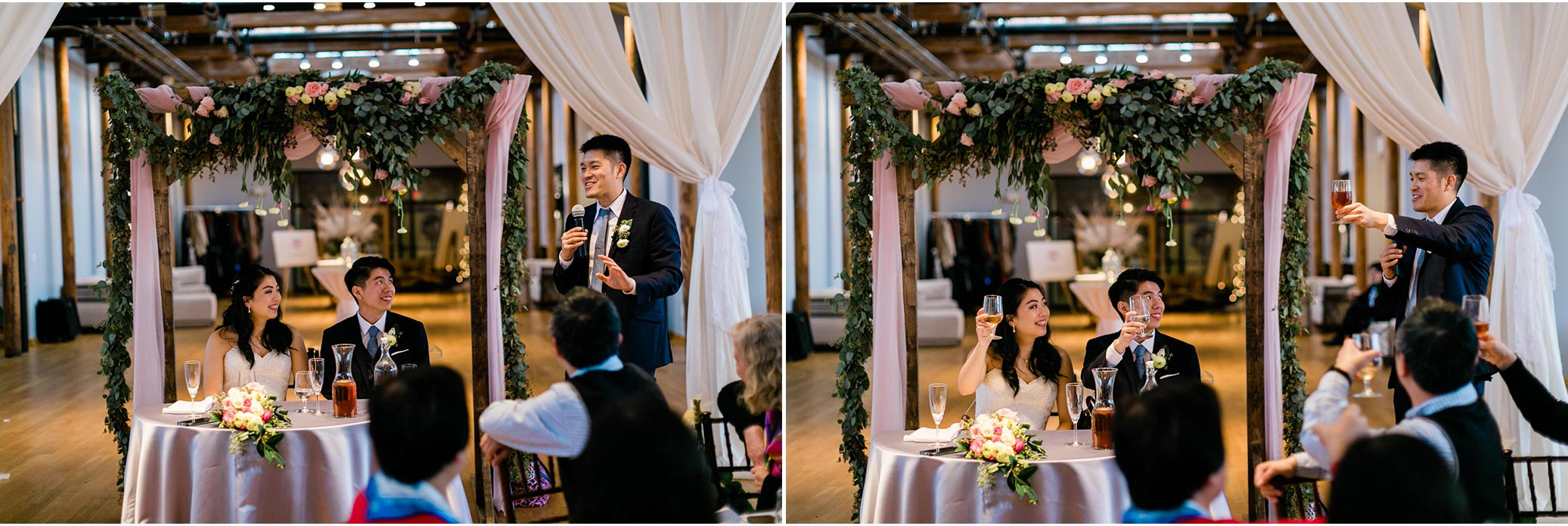 Best Man giving speech during reception | Durham Wedding Photographer | The Cotton Room | By G. Lin Photography
