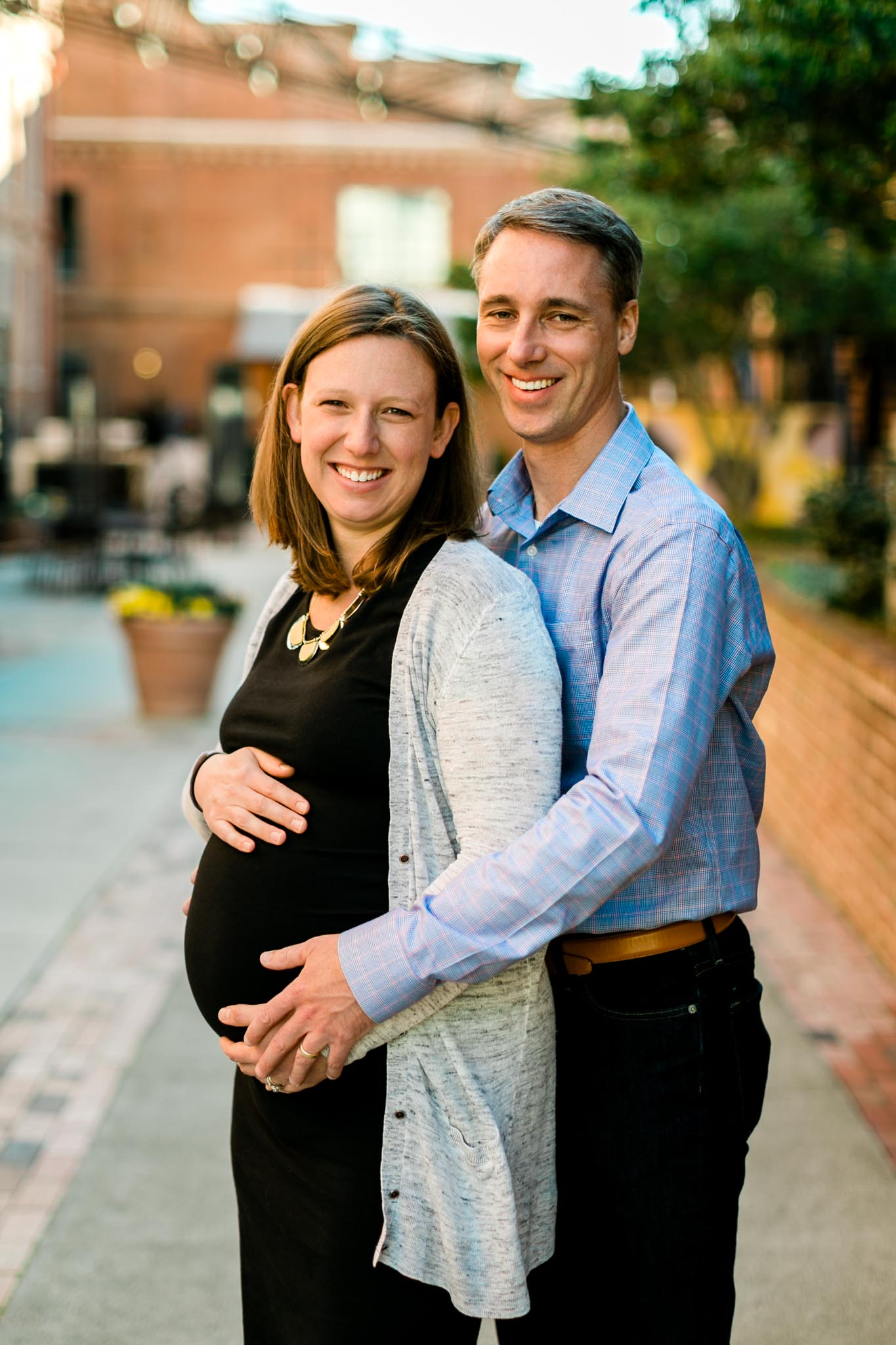 Pregnancy portrait at American Tobacco Campus | Durham Maternity Photographer | By G. Lin Photography