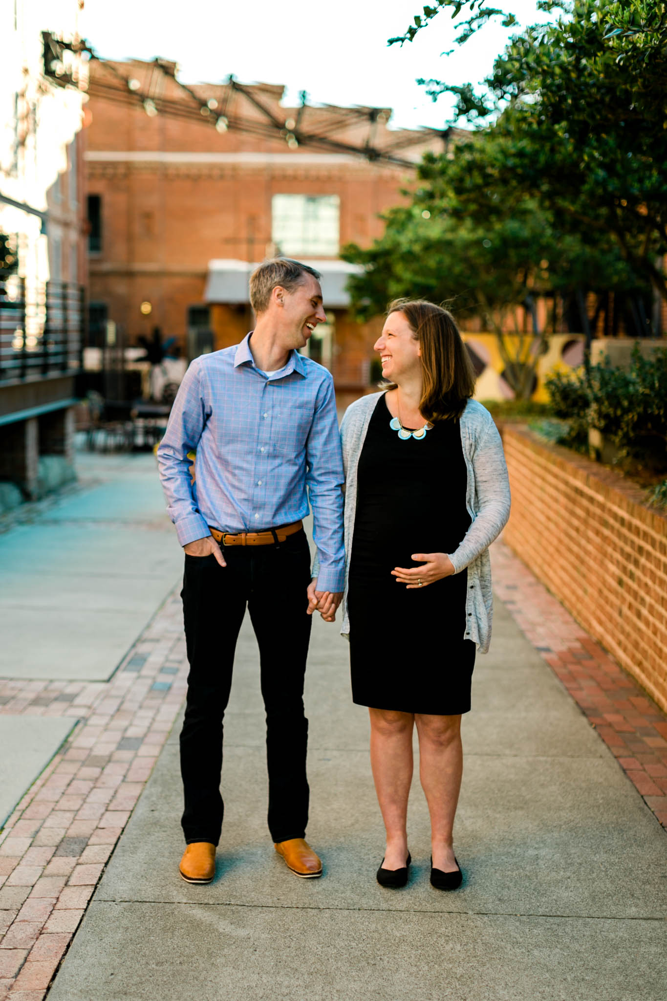 Spring maternity photo at American Tobacco Campus | Durham Maternity Photographer | By G. Lin Photography