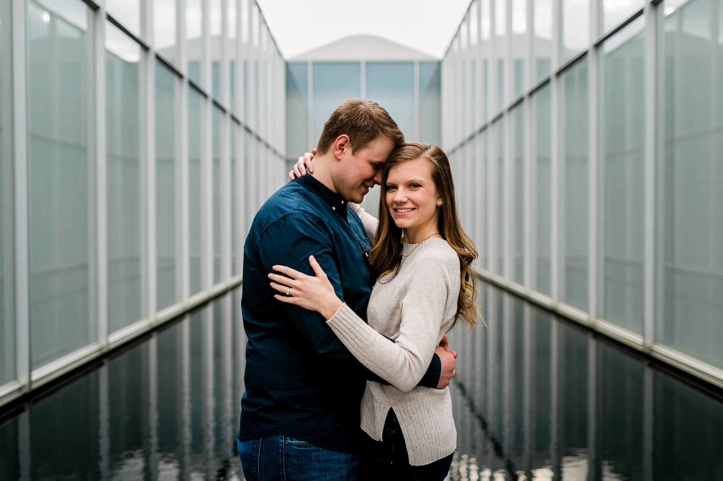 Spring engagement photos at NCMA | Durham Wedding Photographer | By G. Lin Photography