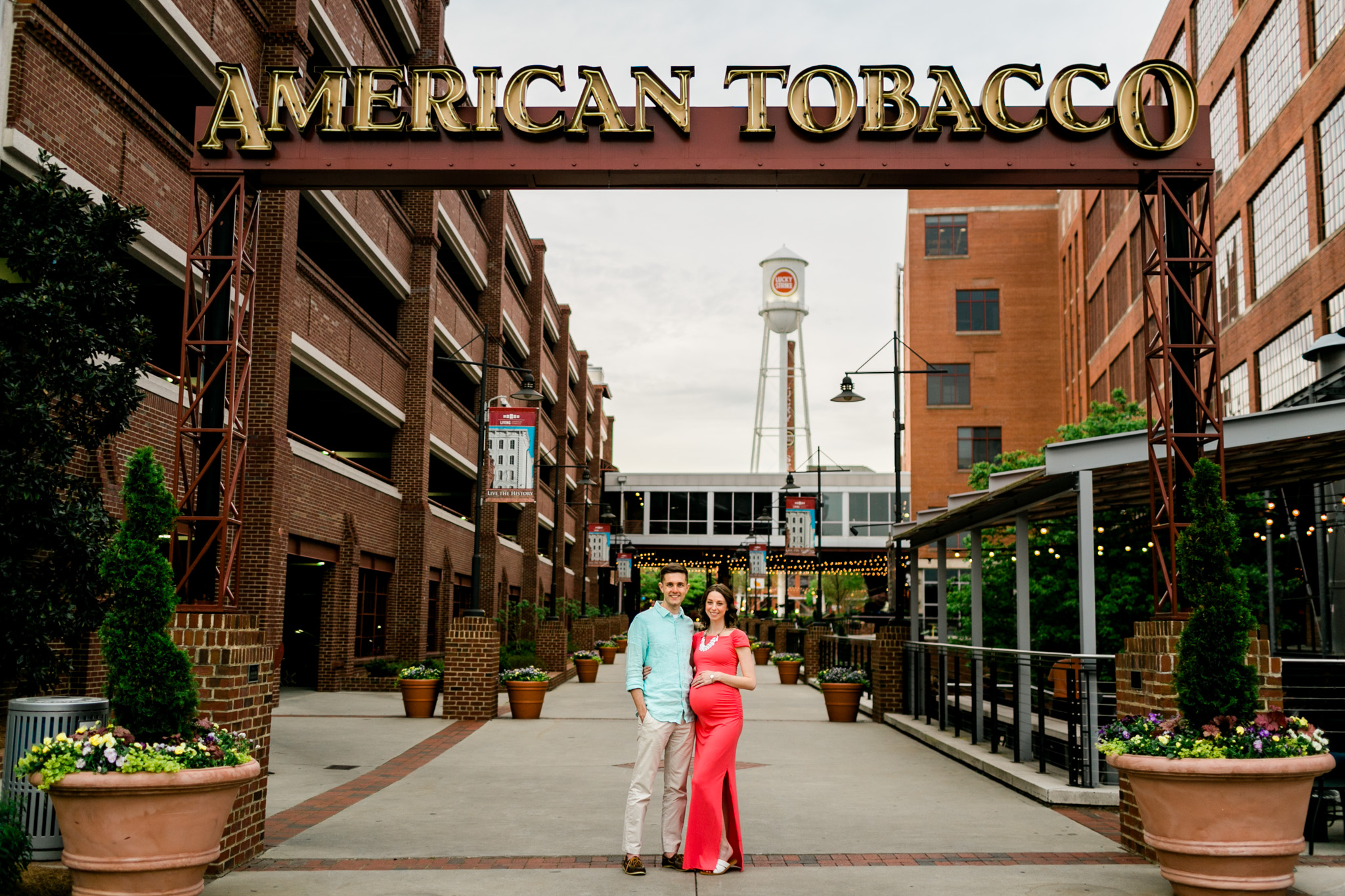 Couple portrait at American Tobacco Campus | Durham Photographer | By G. Lin Photography