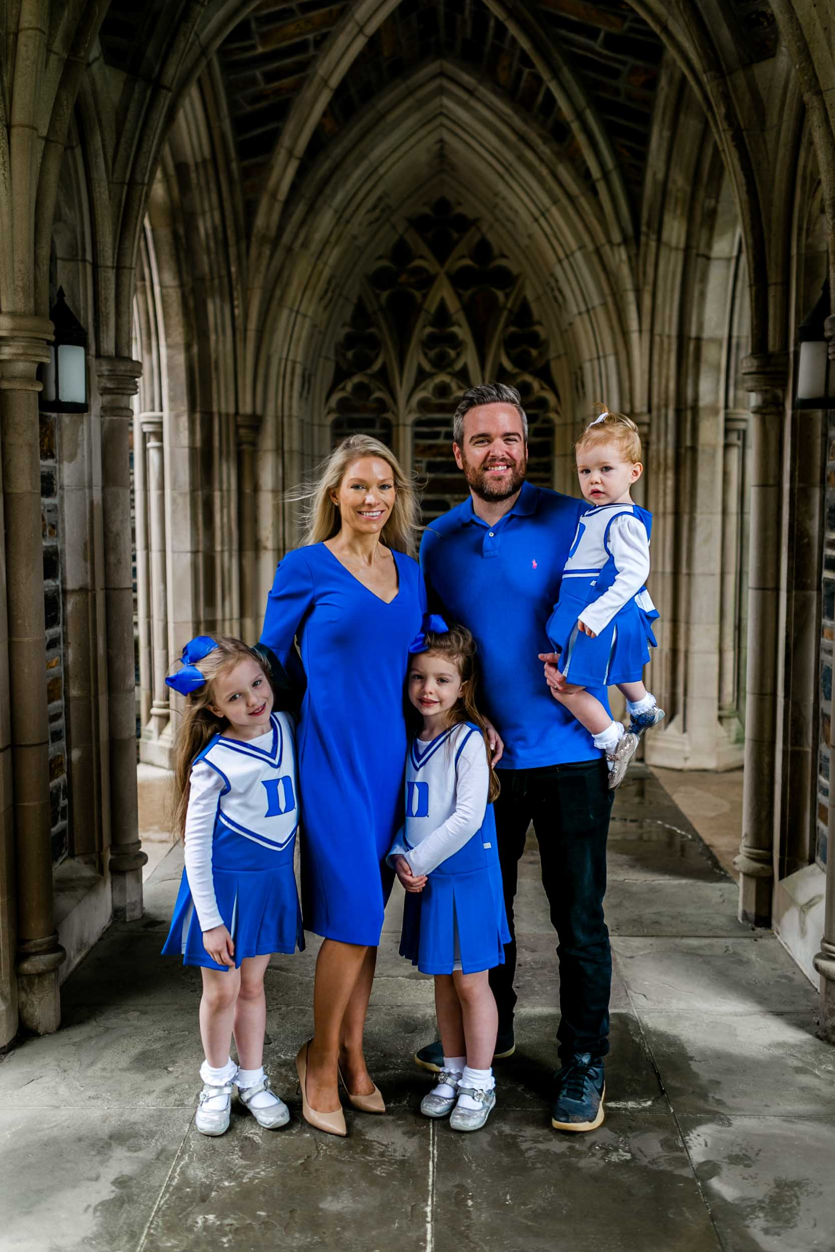 Family photo session at Duke Chapel | Durham Photographer | By G. Lin Photography