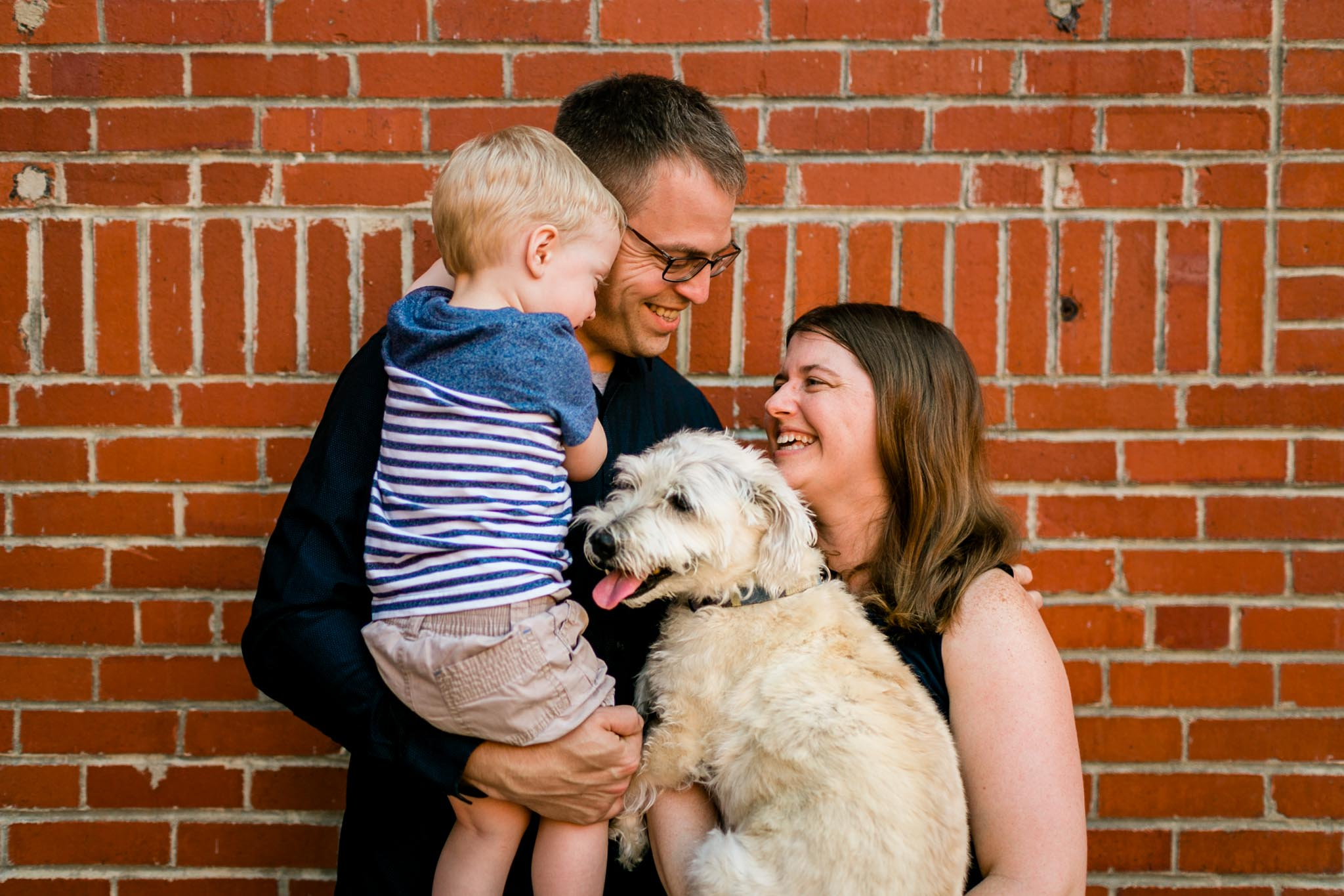Durham Family Photographer   By G. Lin Photography   Outdoor family portrait at American Tobacco Campus