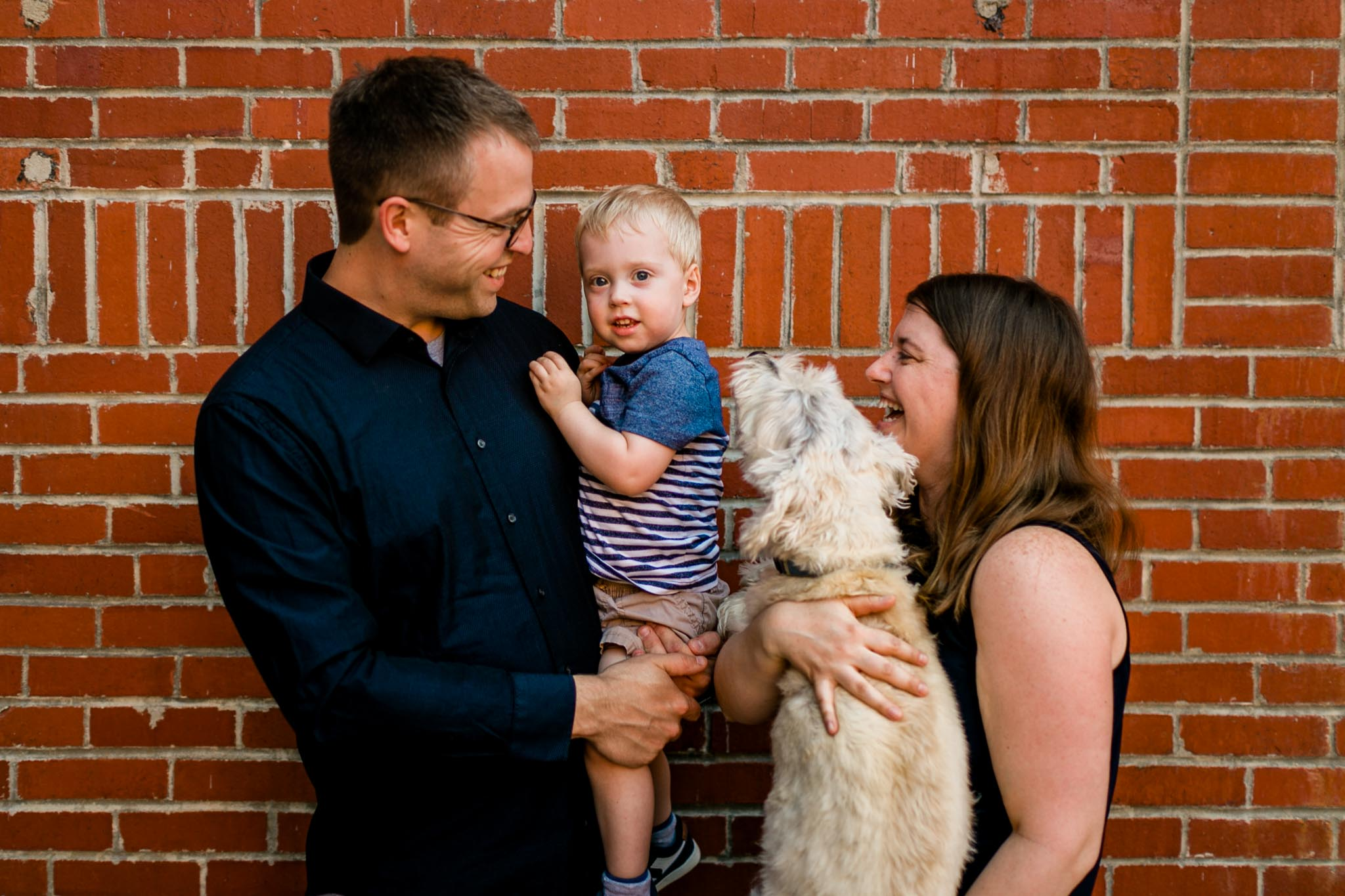 Durham Family Photographer | By G. Lin Photography | Candid lifestyle family photo at American Tobacco Campus