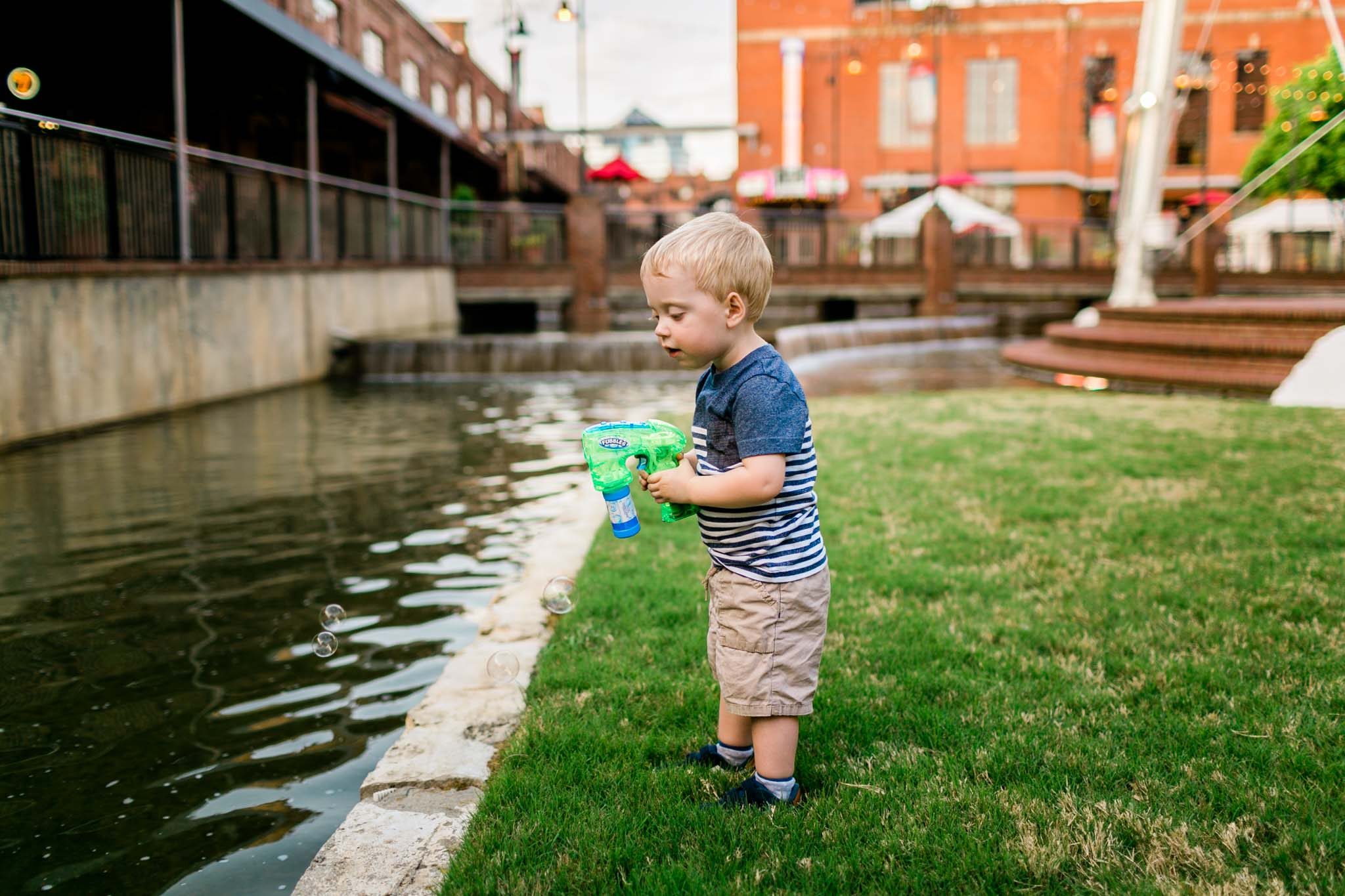 Boy playing with bubbles | Durham Photographer | by G. Lin Photography