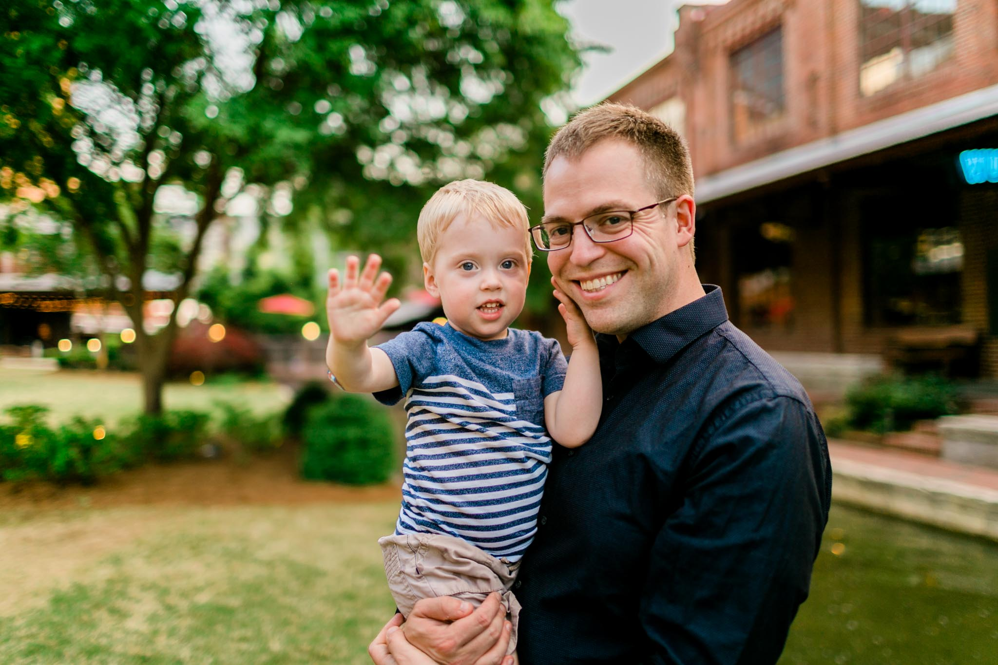Durham Photographer | By G. Lin Photography | Father holding son