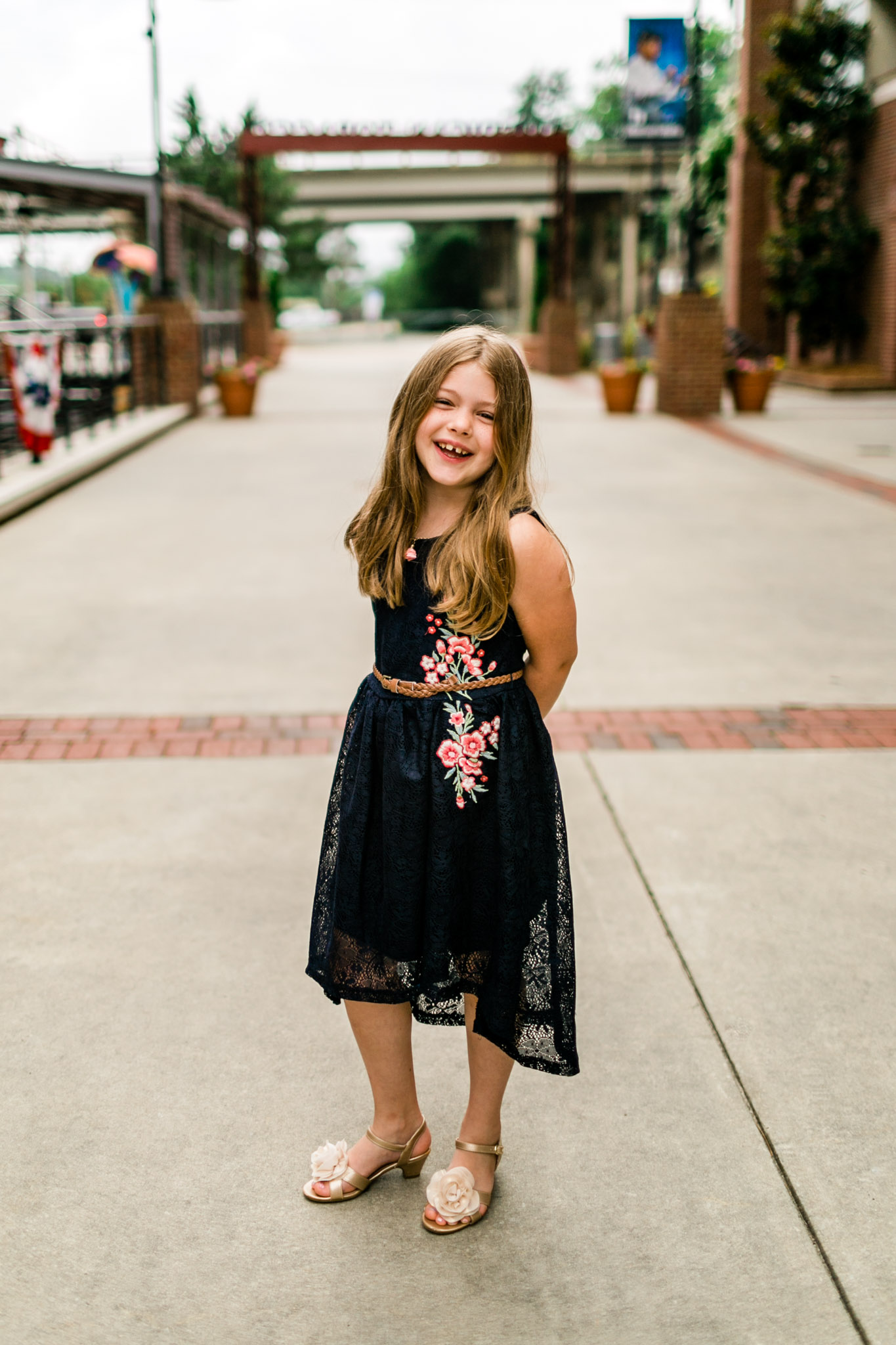 Durham Family Photographer | By G. Lin Photography | Portrait of young girl laughing at camera