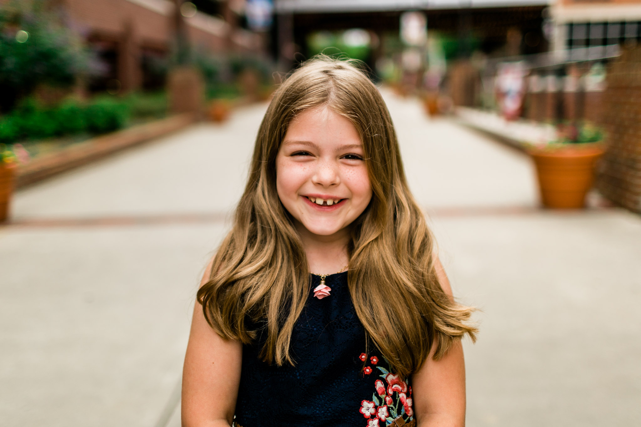 Durham Family Photographer | By G. Lin Photography | Portrait of young girl smiling at camera
