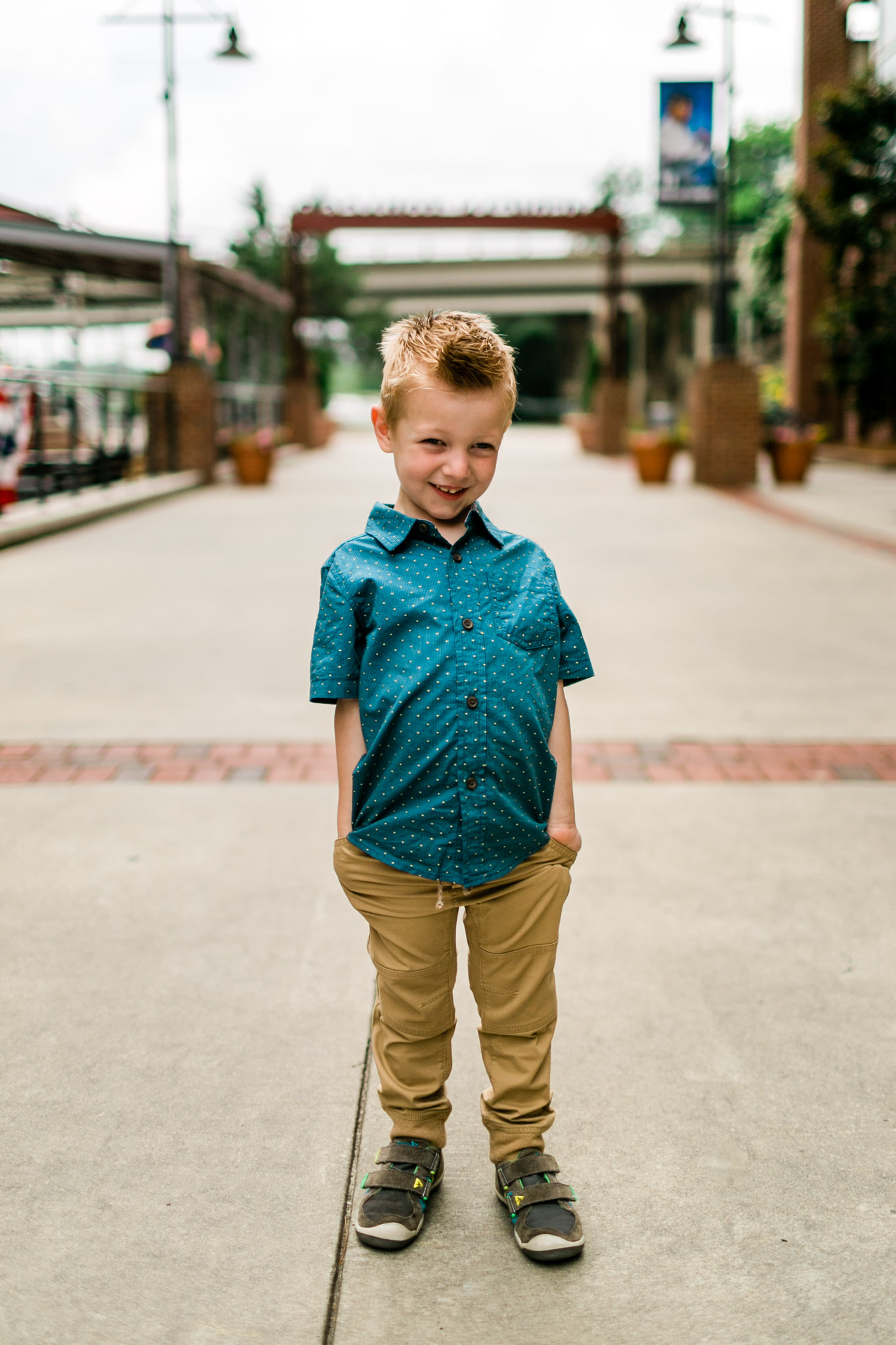 Durham Family Photographer | By G. Lin Photography | Portrait of young boy smiling at camera