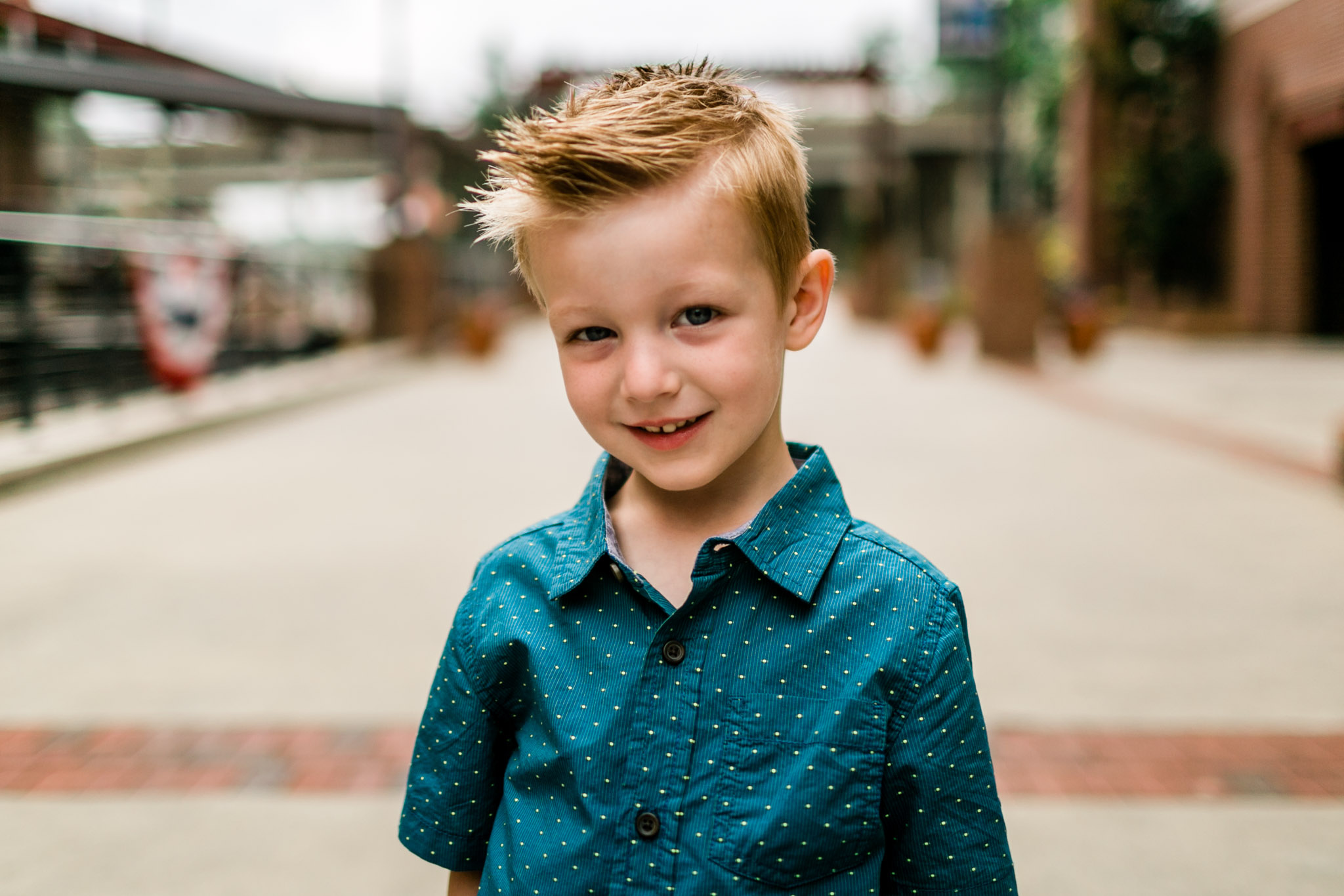 Durham Family Photographer | By G. Lin Photography | Close up photo of young boy smiling at camera