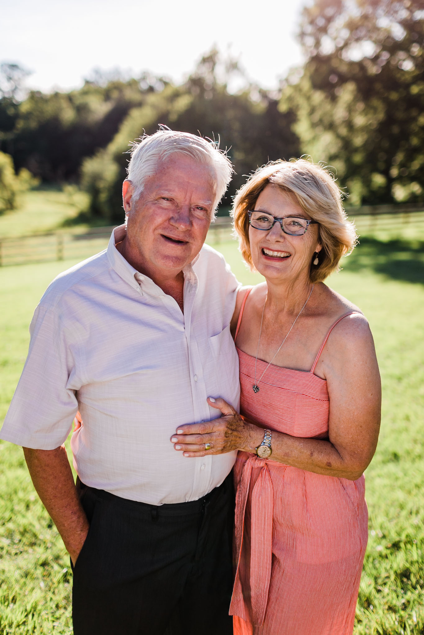 Durham Family Photographer | By G. Lin Photography | Grandparents smiling at camera