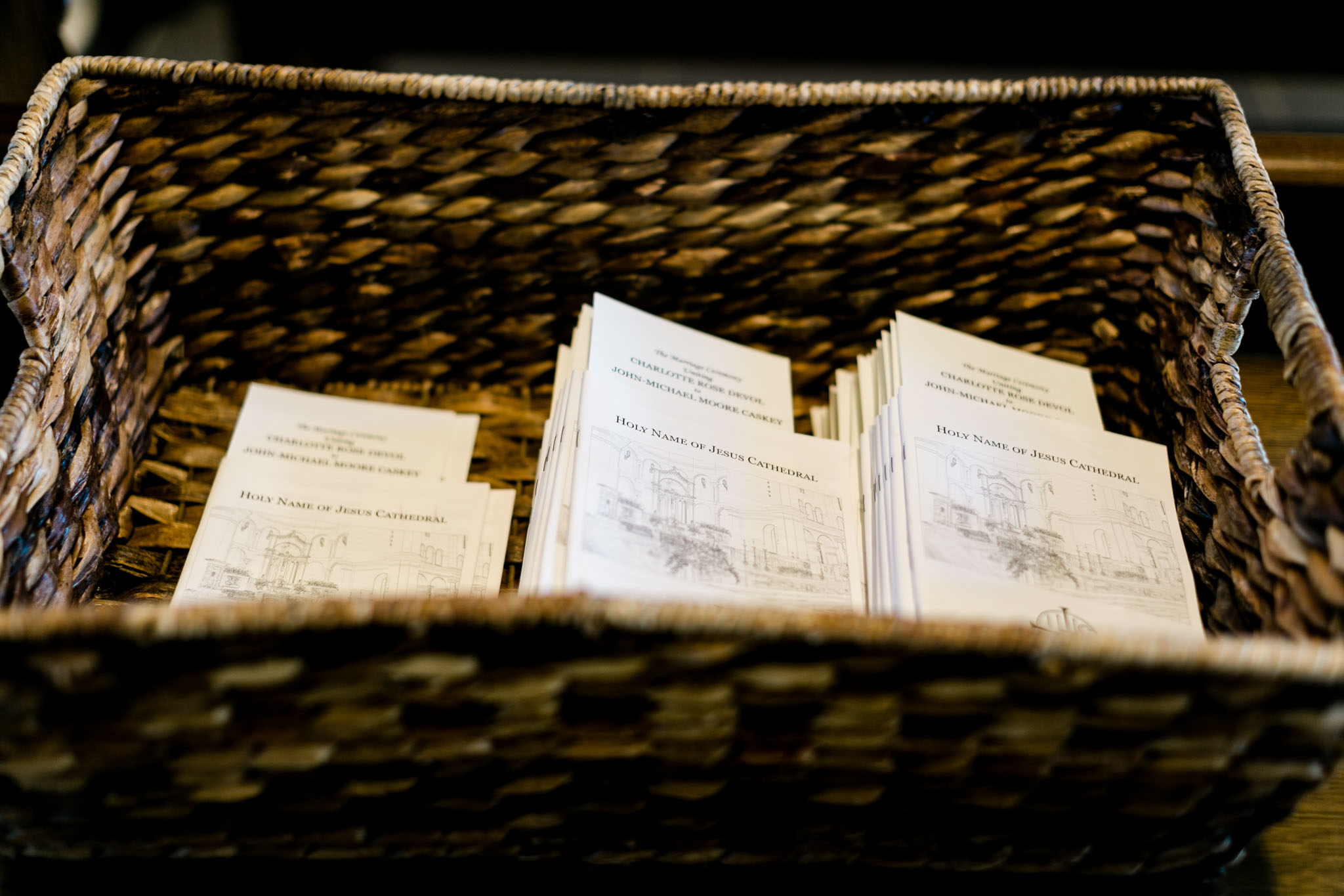 Close up of wedding programs |  Raleigh Wedding Photographer | By G. Lin Photography