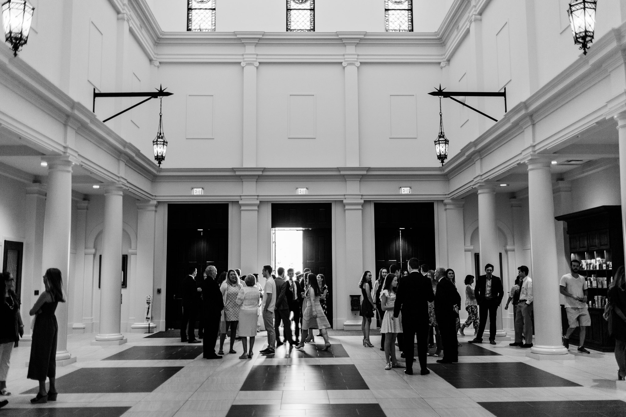 Holy Name of Jesus Cathedral foyer | Raleigh Wedding Photographer | By G. Lin Photography