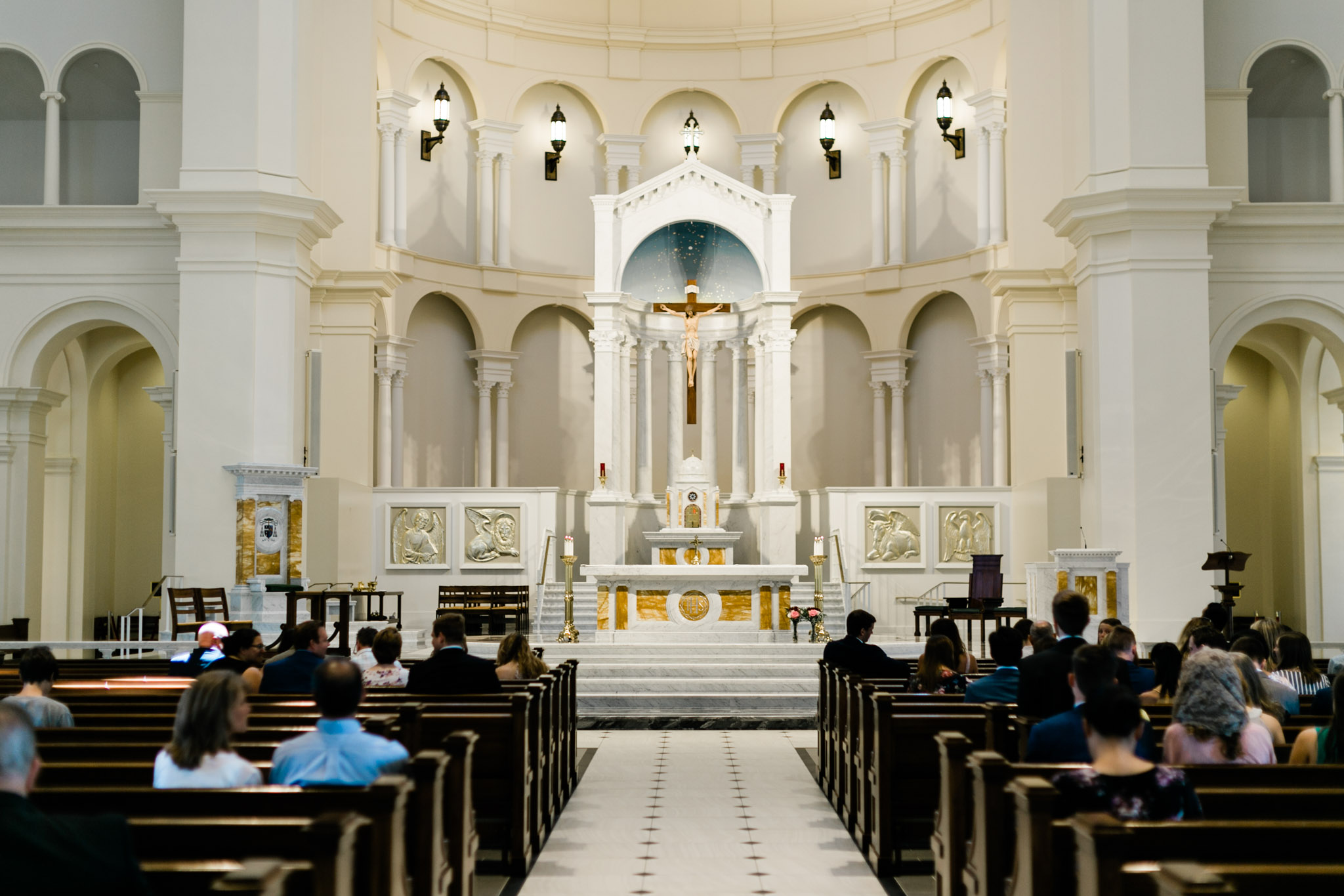 Inside of Holy Name of Jesus Cathedral | Raleigh Wedding Photographer | By G. Lin Photography