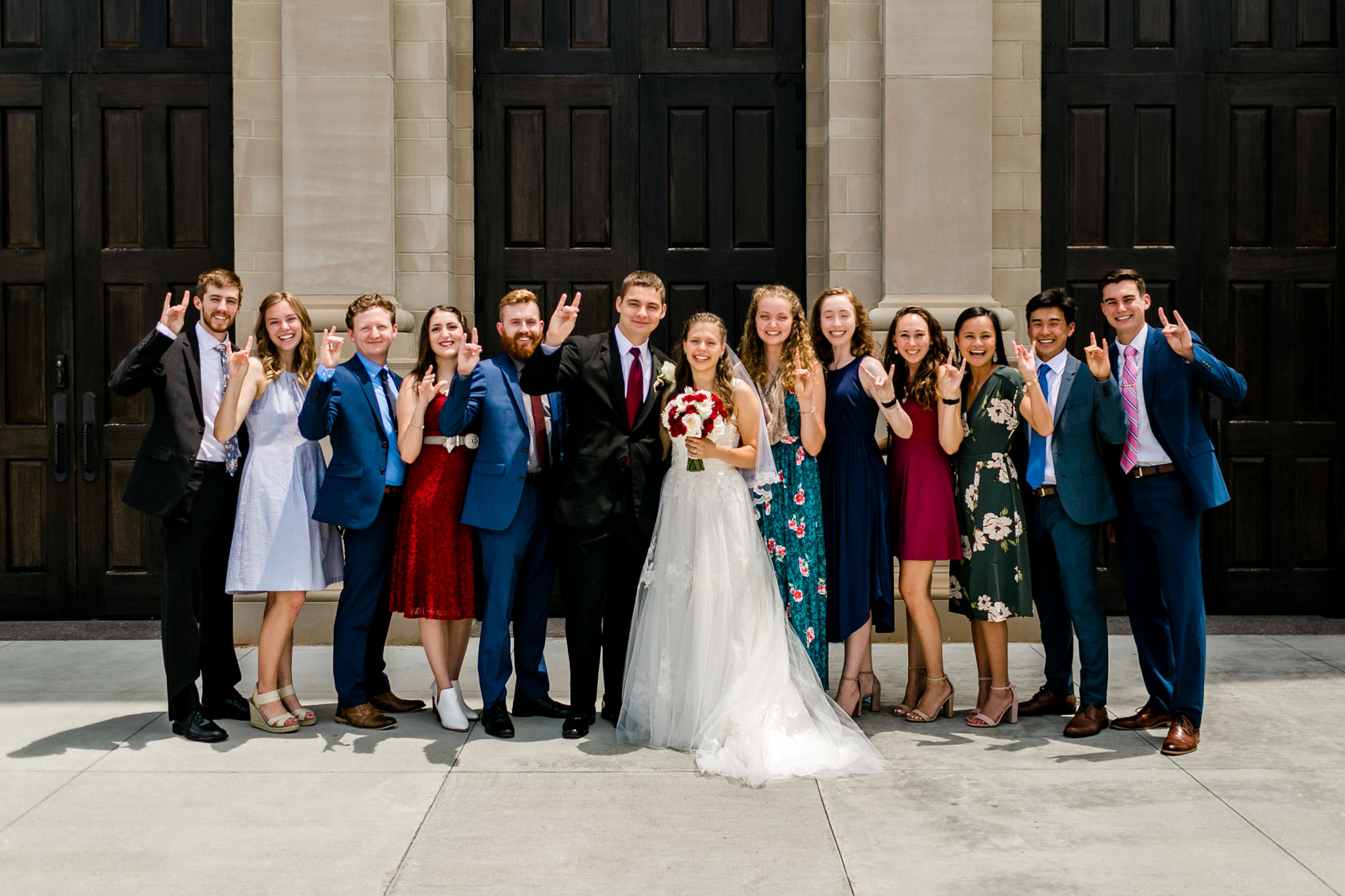 NC State grads at wedding | Raleigh Wedding Photographer | By G. Lin Photography
