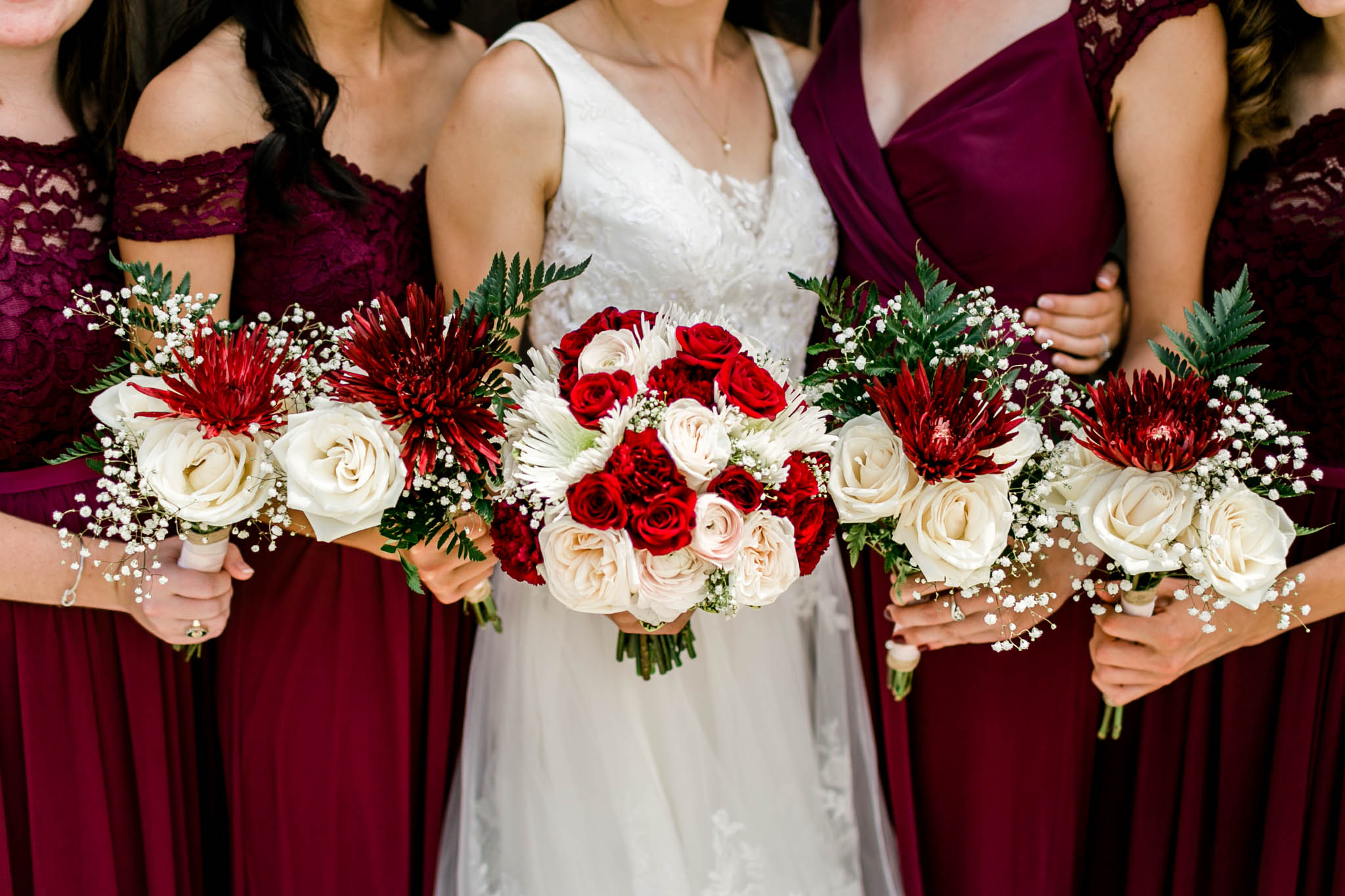 Close up of bouquets | Raleigh Wedding Photographer | By G. Lin Photography