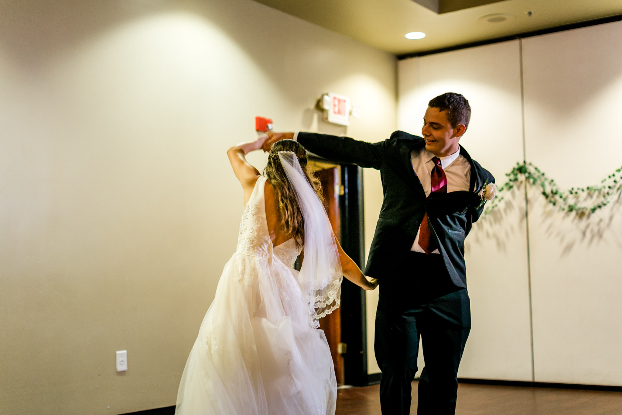First dance by bride and groom at Royal Banquet Conference Center | Raleigh Wedding Photographer | By G. Lin Photography