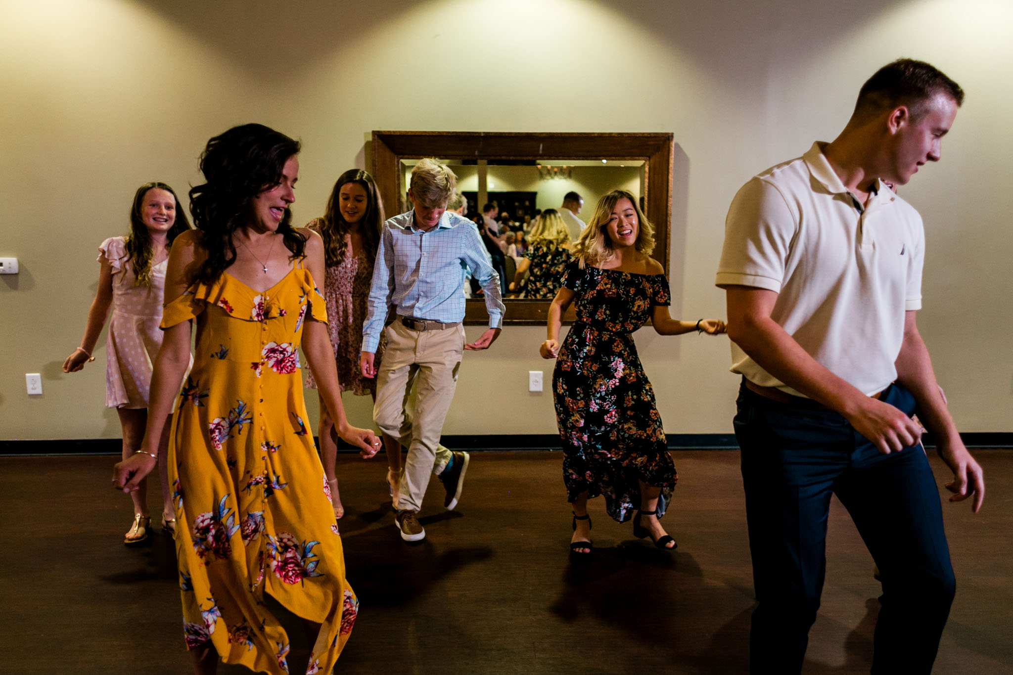 People dancing at wedding reception at Royal Banquet Conference Center | Raleigh Wedding Photographer | By G. Lin Photography